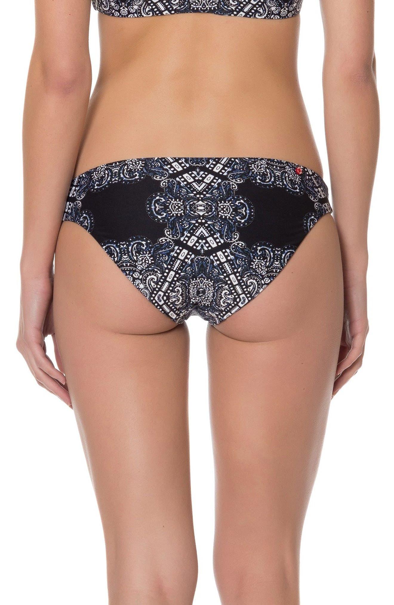 Alternate Image 3  - Red Carter Reversible Print Bikini Bottoms