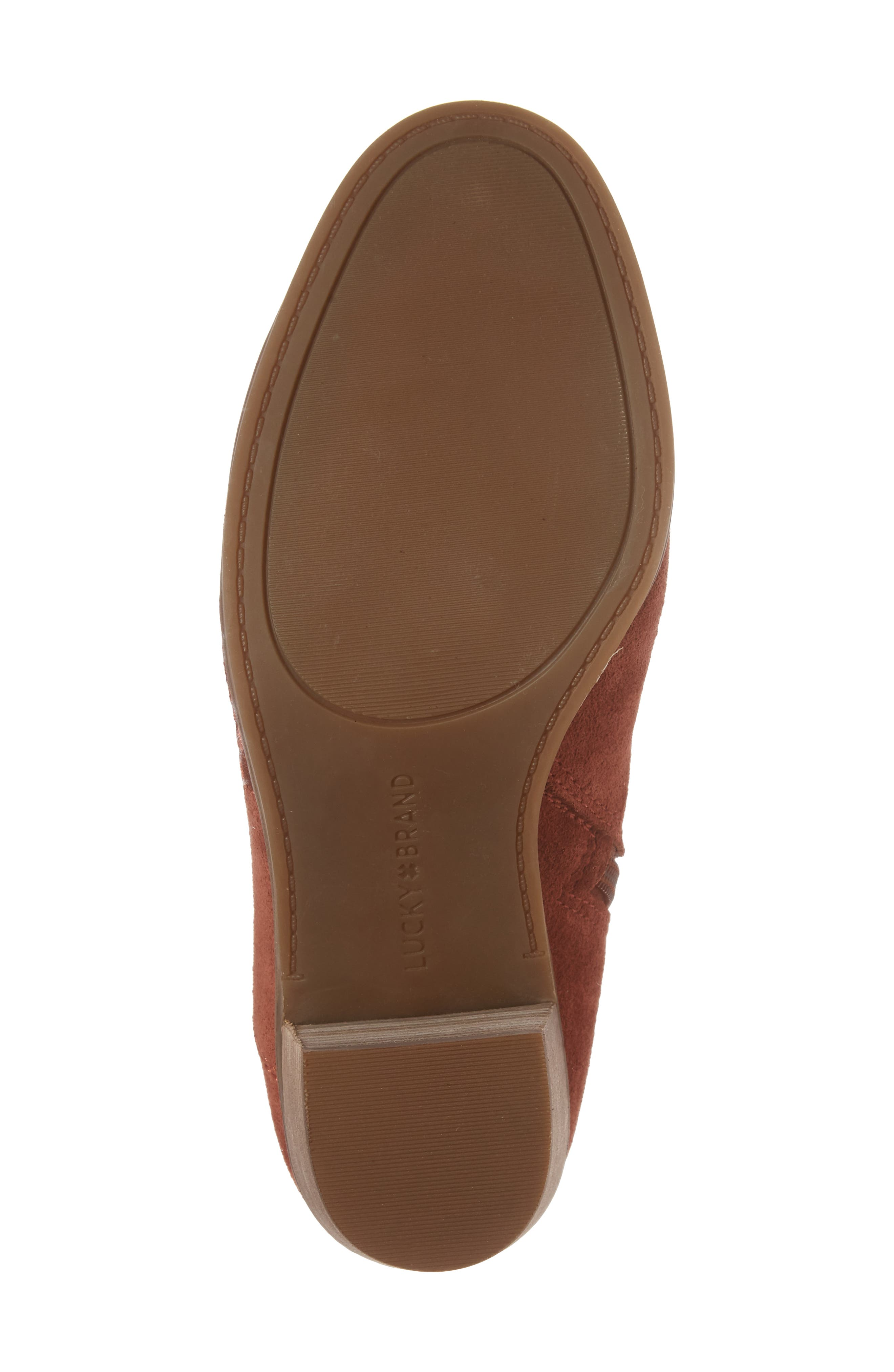 Pexton Embroidered Bootie,                             Alternate thumbnail 6, color,                             Red Oak Suede