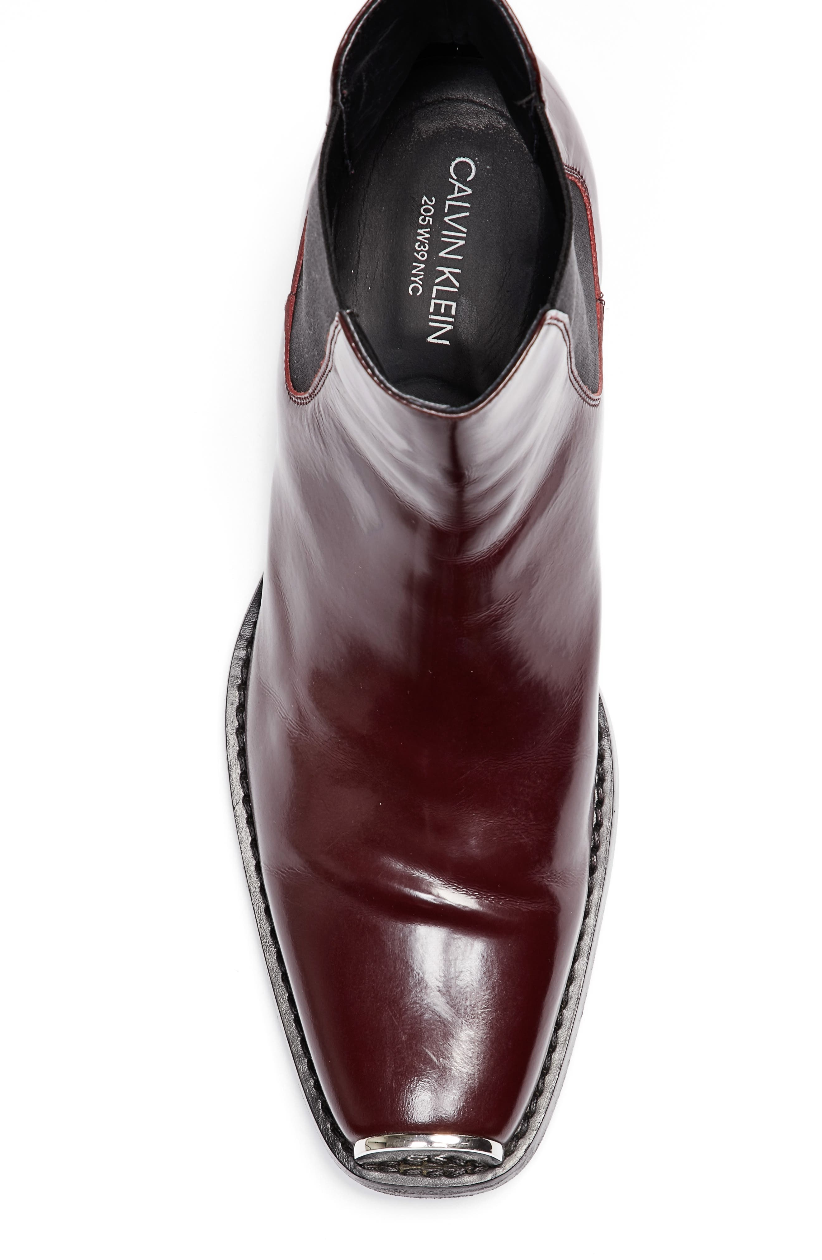 Chris Western Metal Tip Boot,                             Alternate thumbnail 3, color,                             Bordeaux Leather