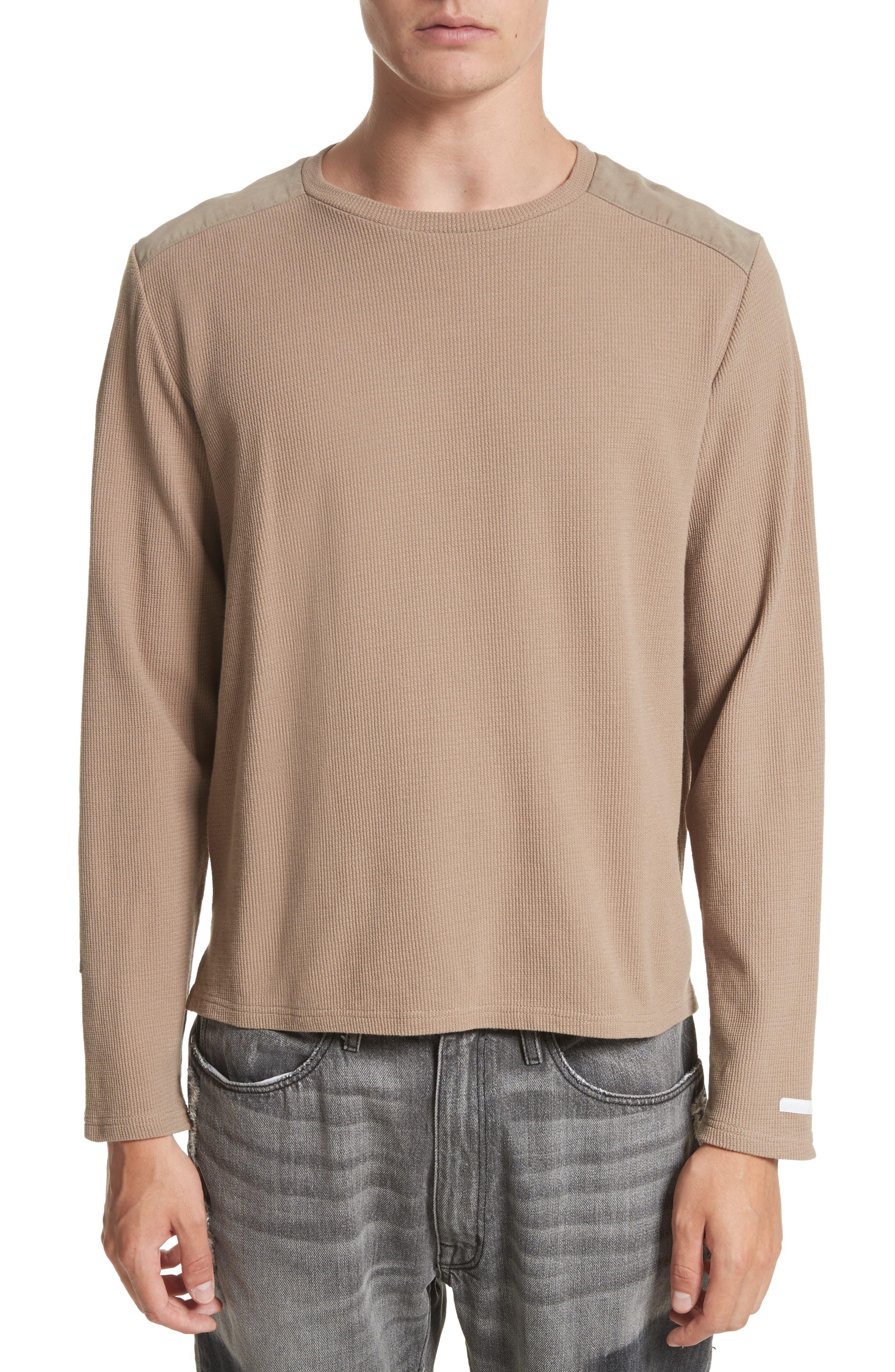 Crewneck Sweater,                         Main,                         color, Mushroom