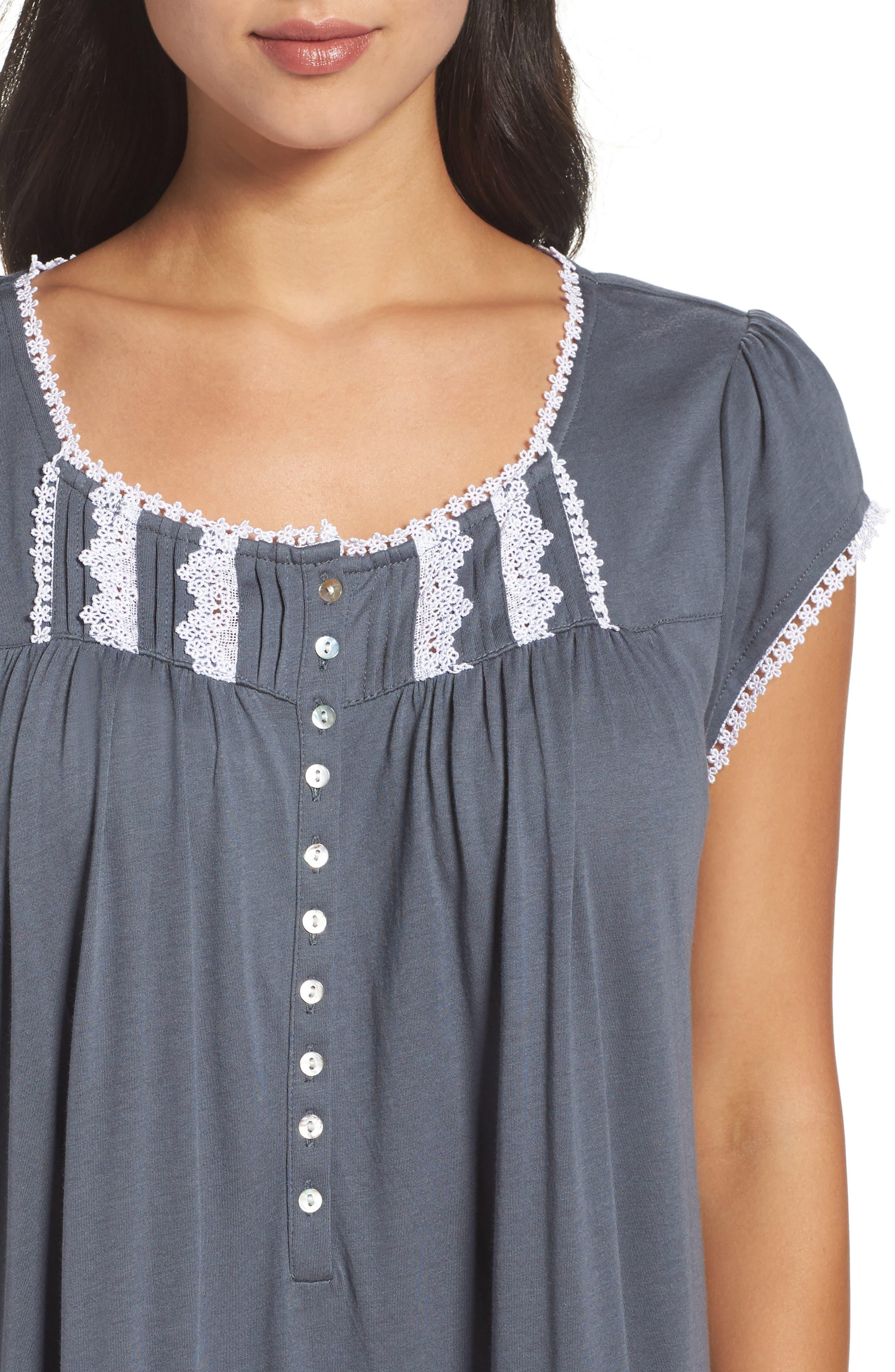 Alternate Image 5  - Eileen West Cotton & Modal Ballet Nightgown