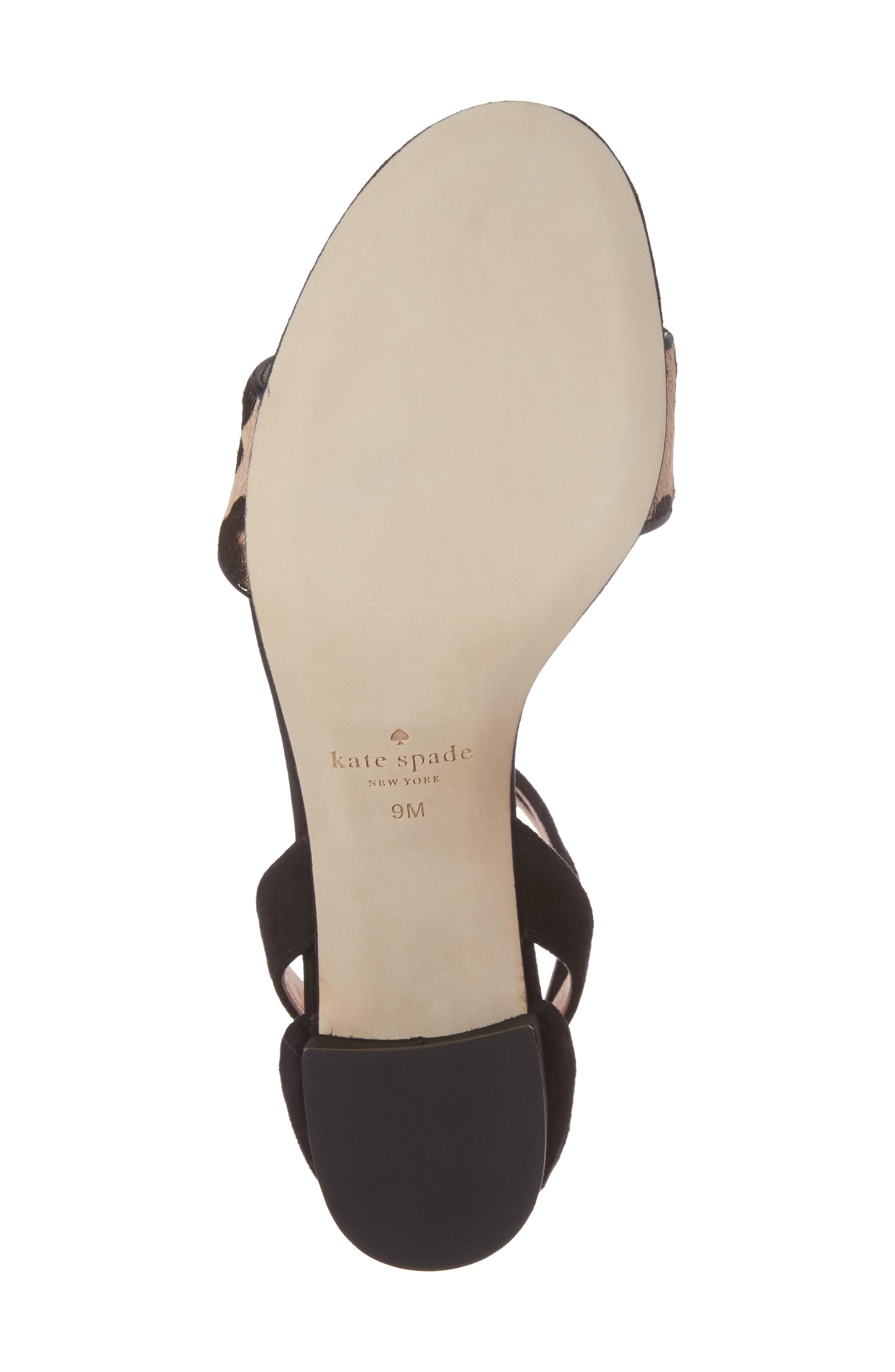 Alternate Image 6  - kate spade new york watson genuine calf hair block heel sandal (Women)