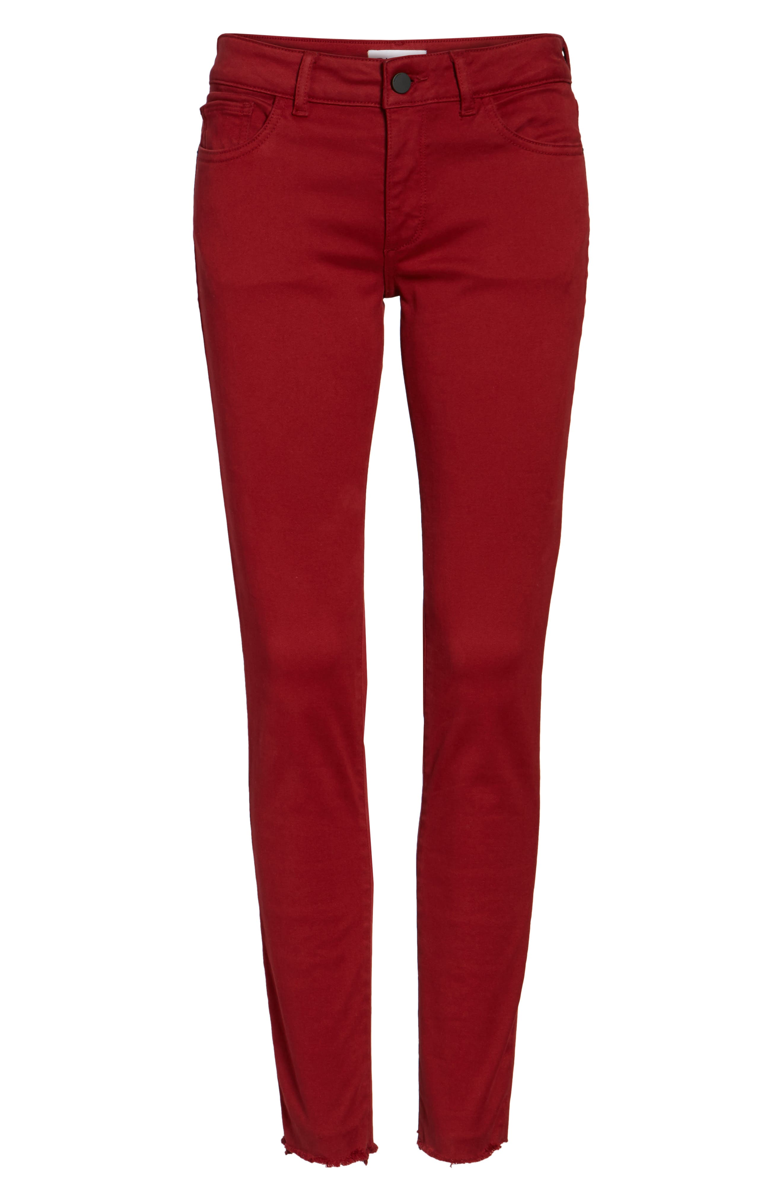 Emma Power Legging Jeans,                             Alternate thumbnail 6, color,                             Rhubarb