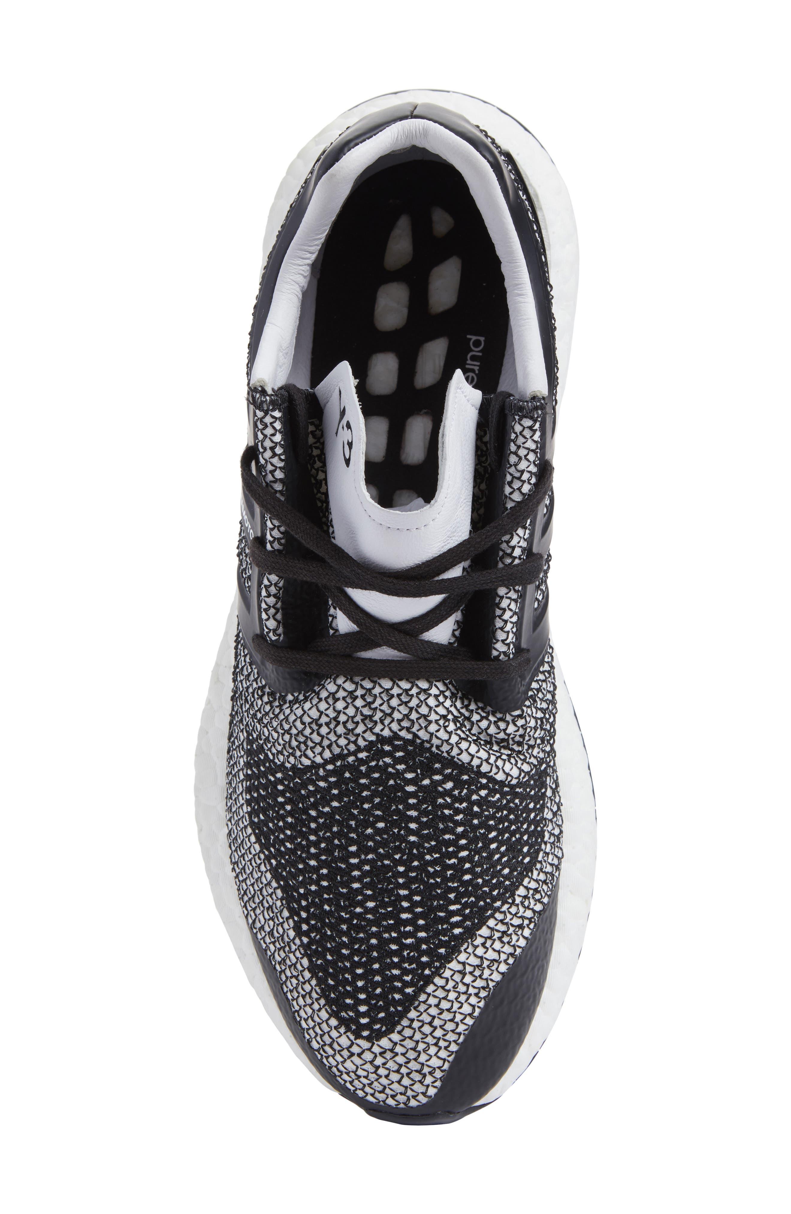 PureBoost Sneaker,                             Alternate thumbnail 5, color,                             White/ Core Black