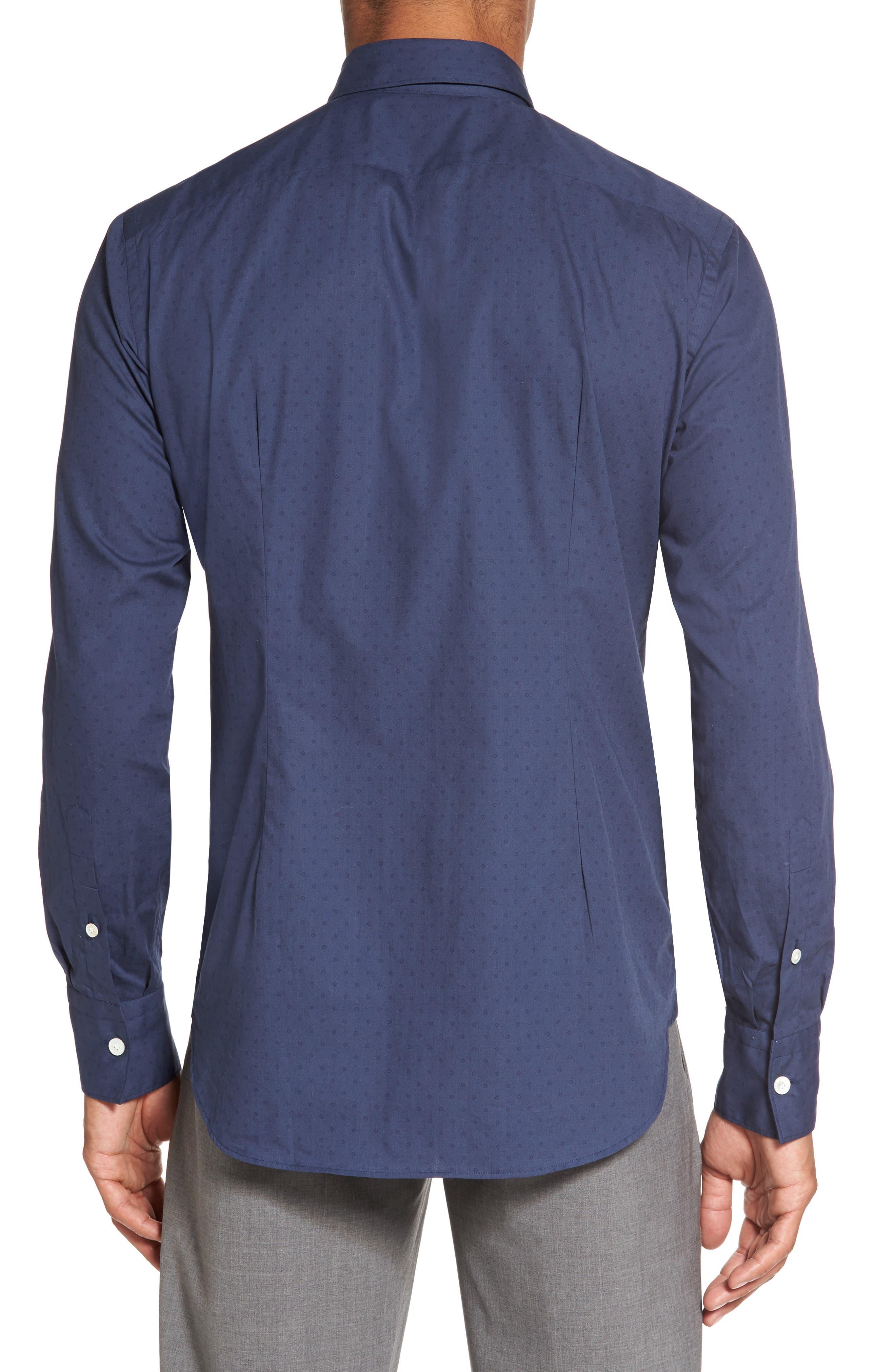 Alternate Image 2  - Eleventy Dot Print Sport Shirt