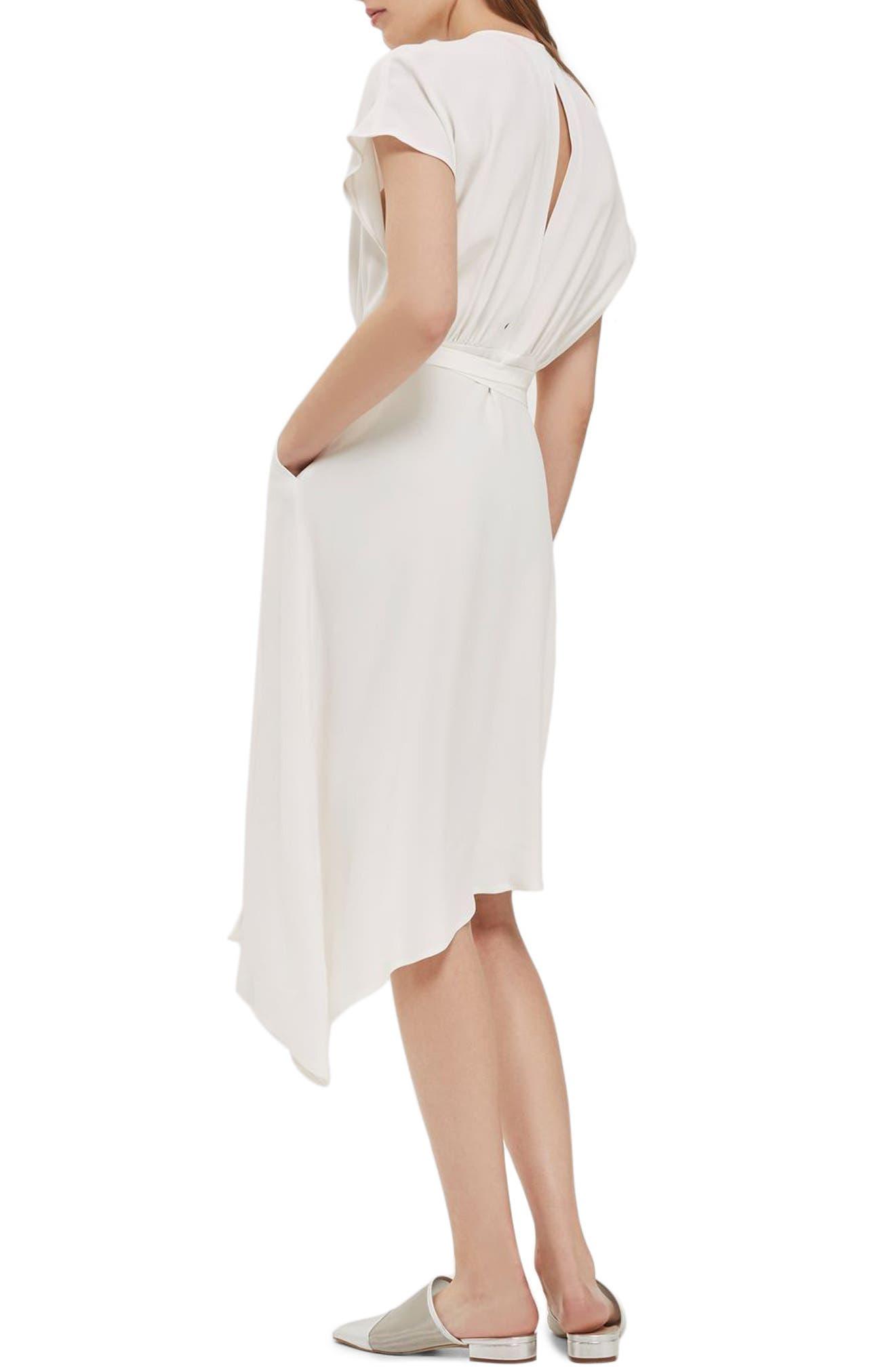 Alternate Image 2  - Topshop Asymmetrical Wrap Midi Dress