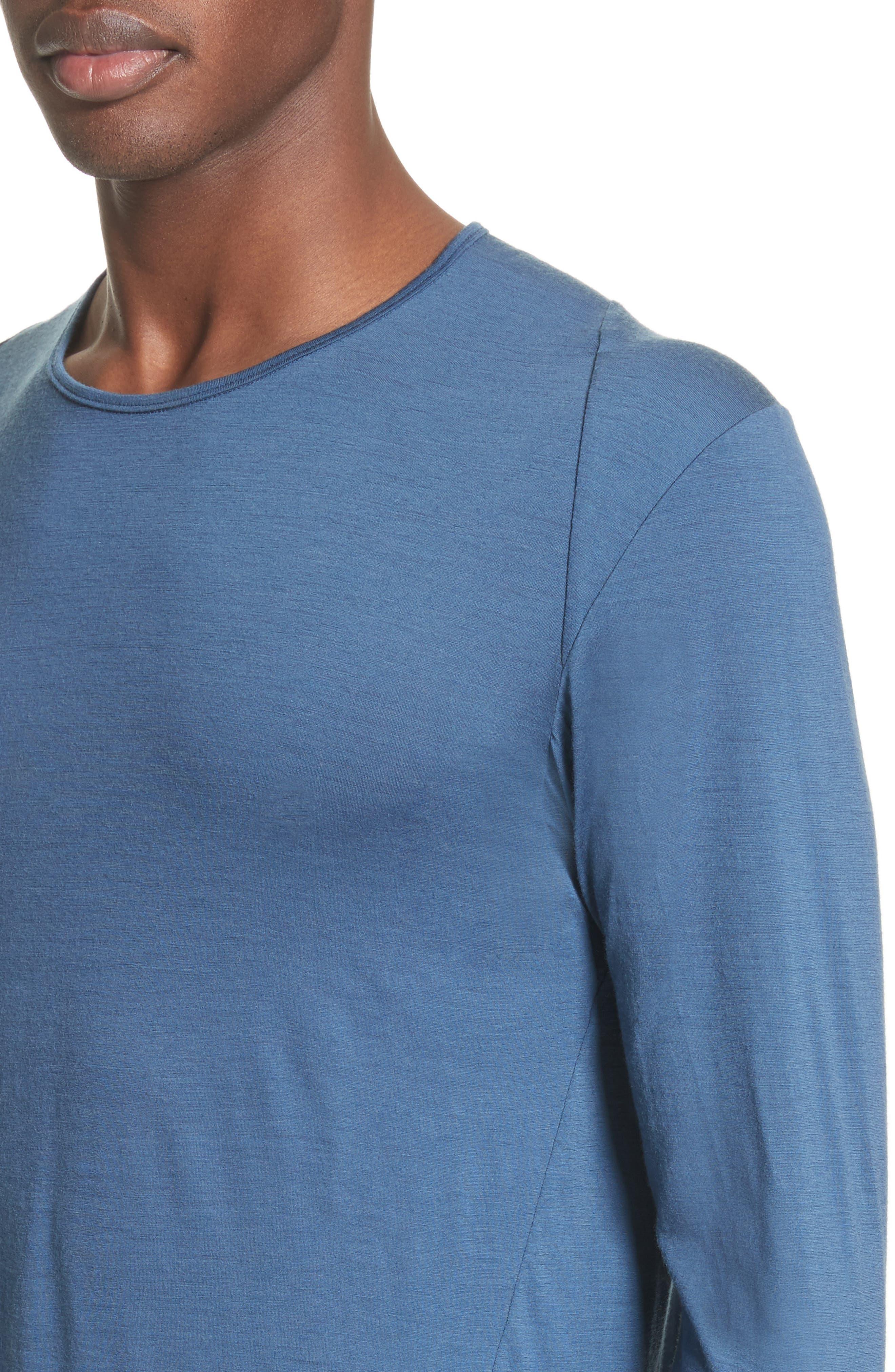 Frame Merino Wool T-Shirt,                             Alternate thumbnail 4, color,                             Navy