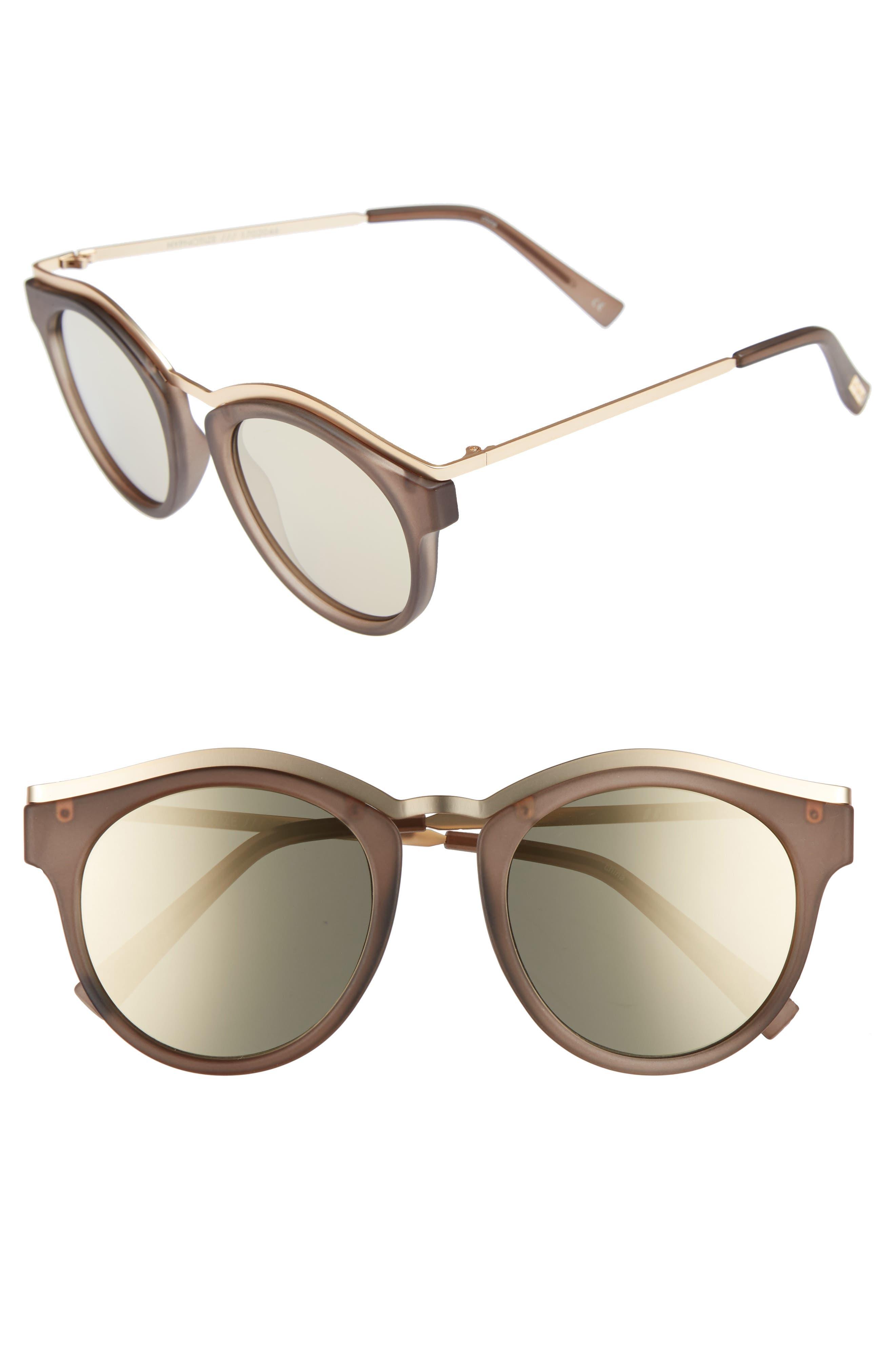 Alternate Image 1 Selected - Le Specs Hypnotize 50mm Round Sunglasses