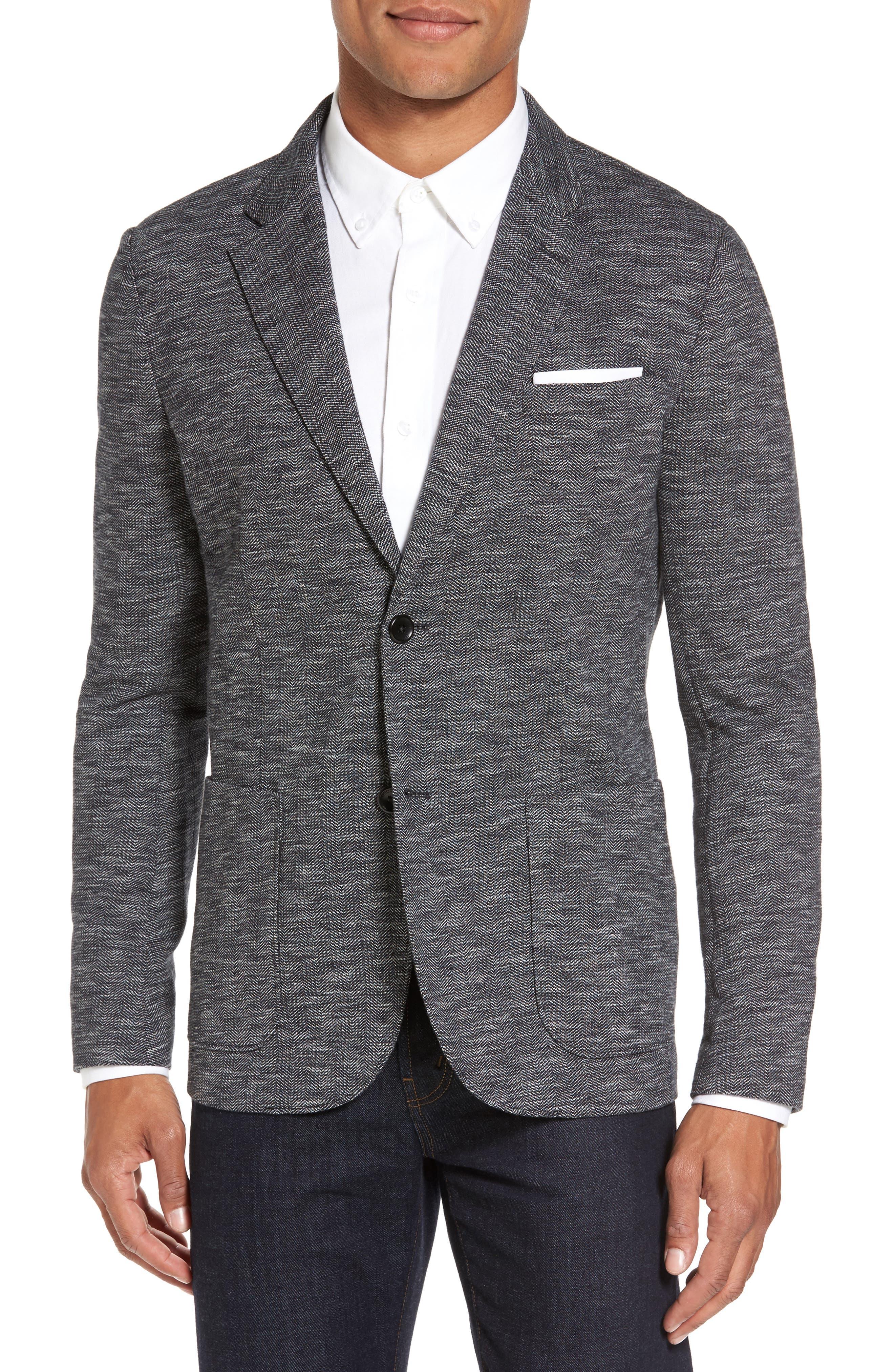 Alternate Image 1 Selected - Good Man Brand Slim Fit Vintage Herringbone Knit Blazer