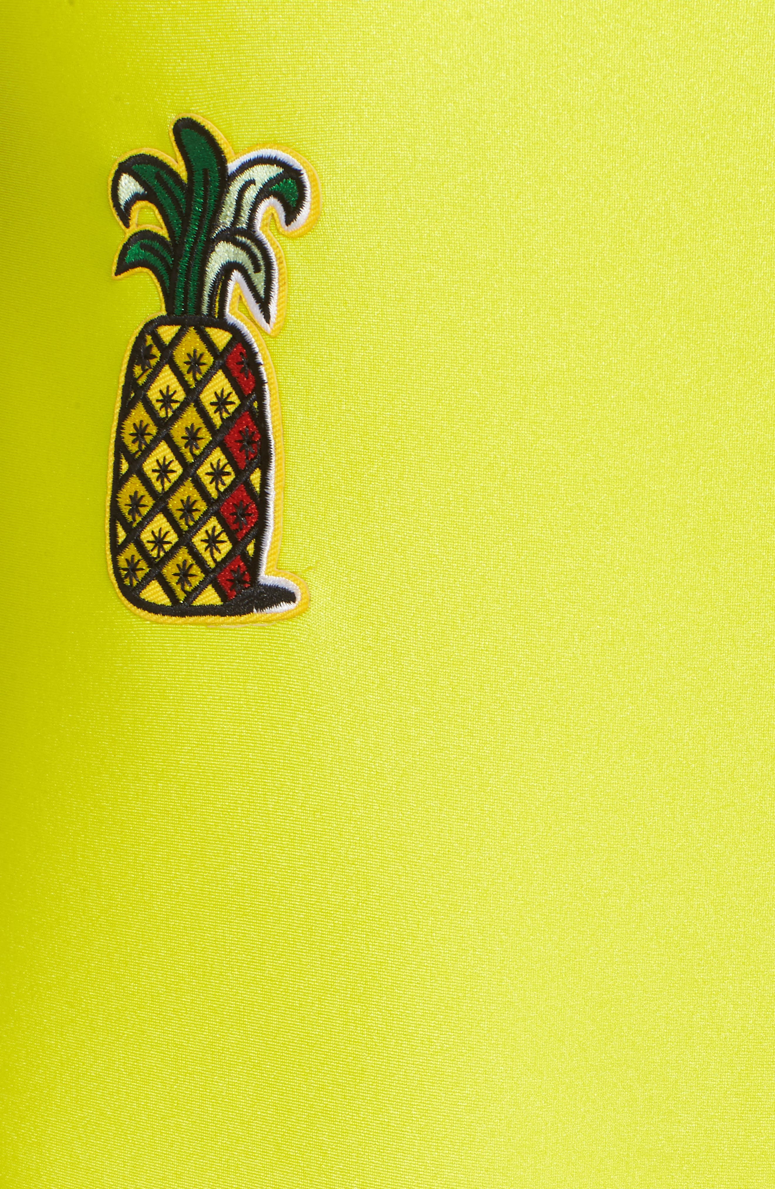 Alternate Image 5  - Private Party Classic Pineapple Neon One-Piece Swimsuit