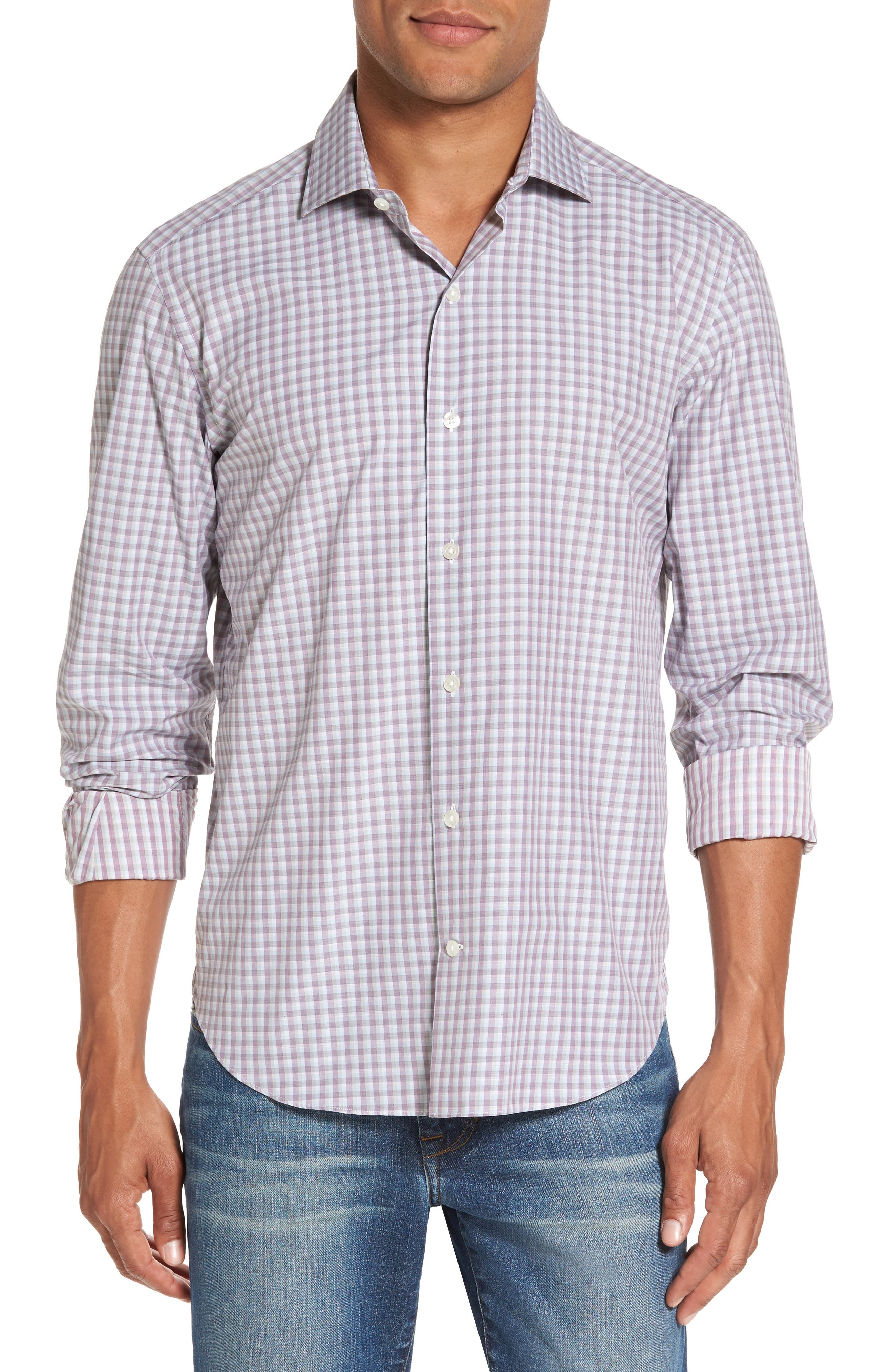 Culturata Slim Fit Plaid Sport Shirt