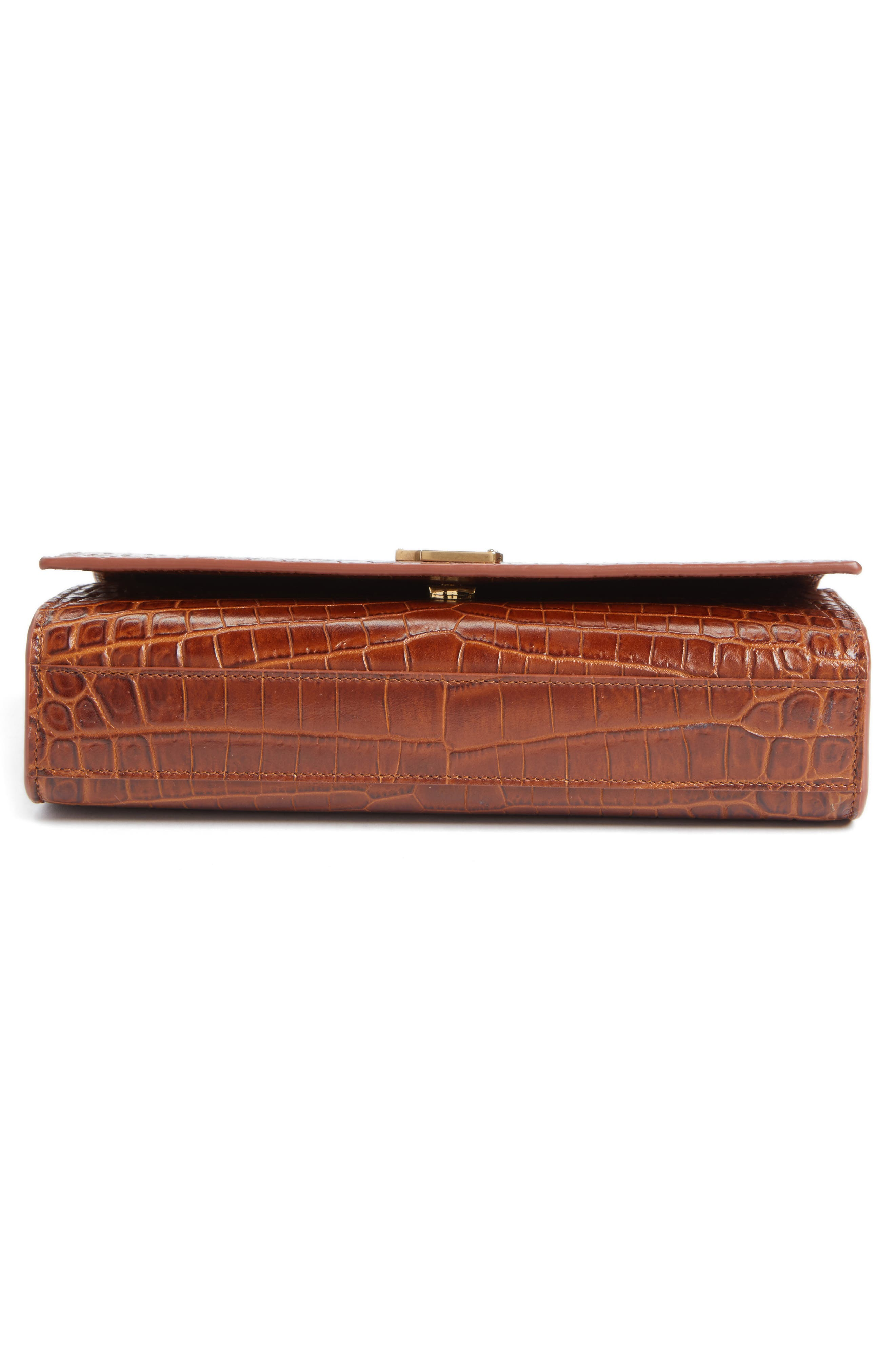 Alternate Image 6  - Saint Laurent Medium Kate Croc Embossed Leather Shoulder Bag