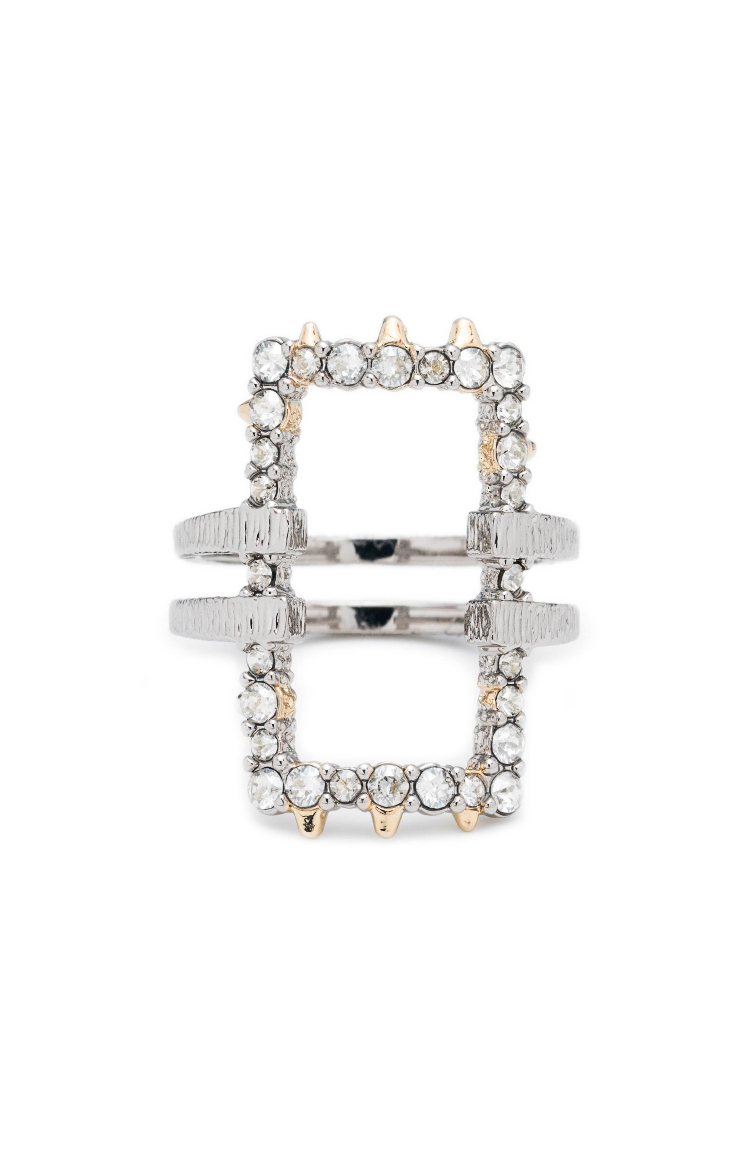 Elements Crystal Encrusted Ring,                         Main,                         color, Gold