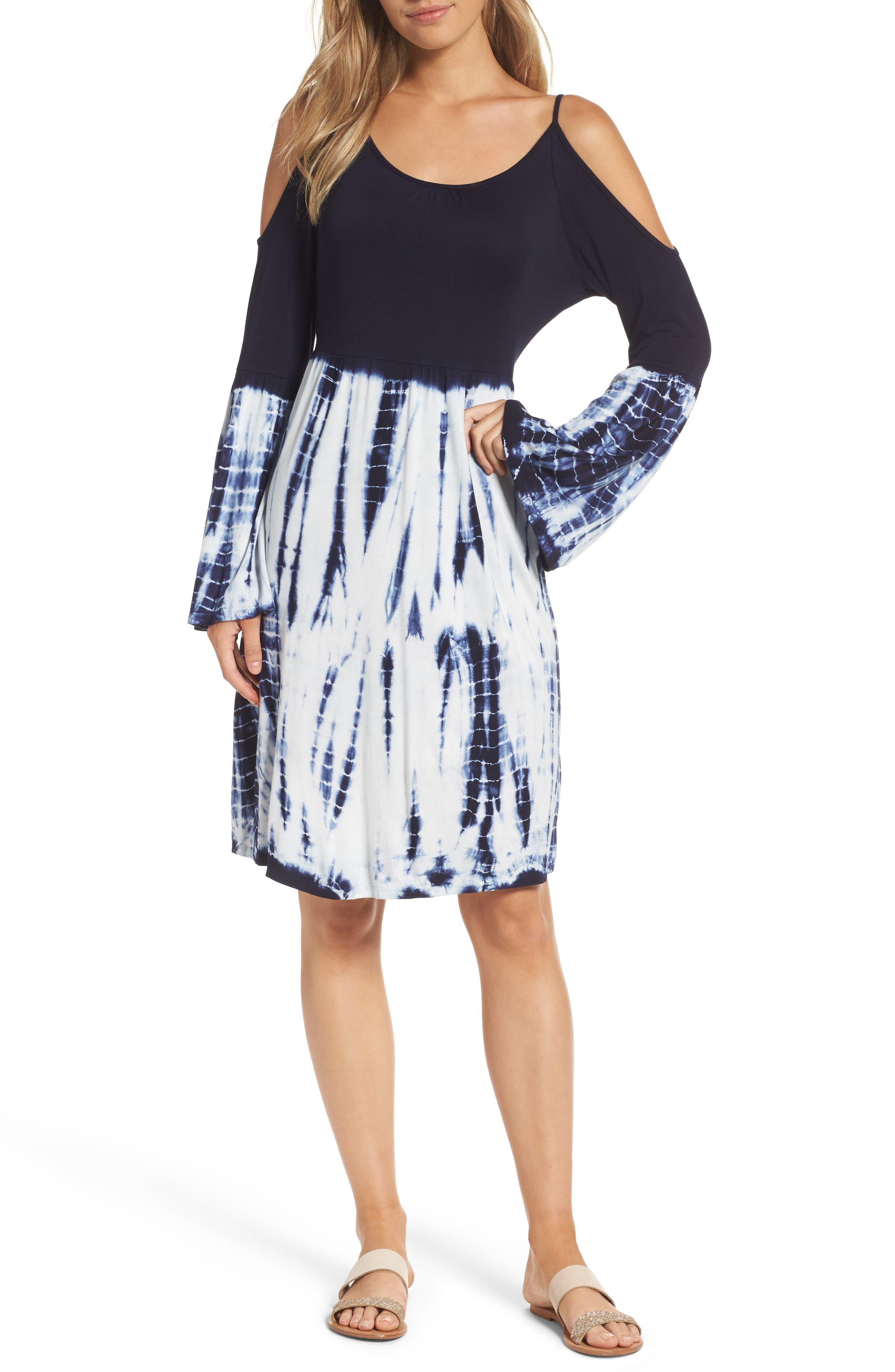 Felicity & Coco Cold Shoulder Dress (Regular & Petite) (Nordstrom Exclusive)