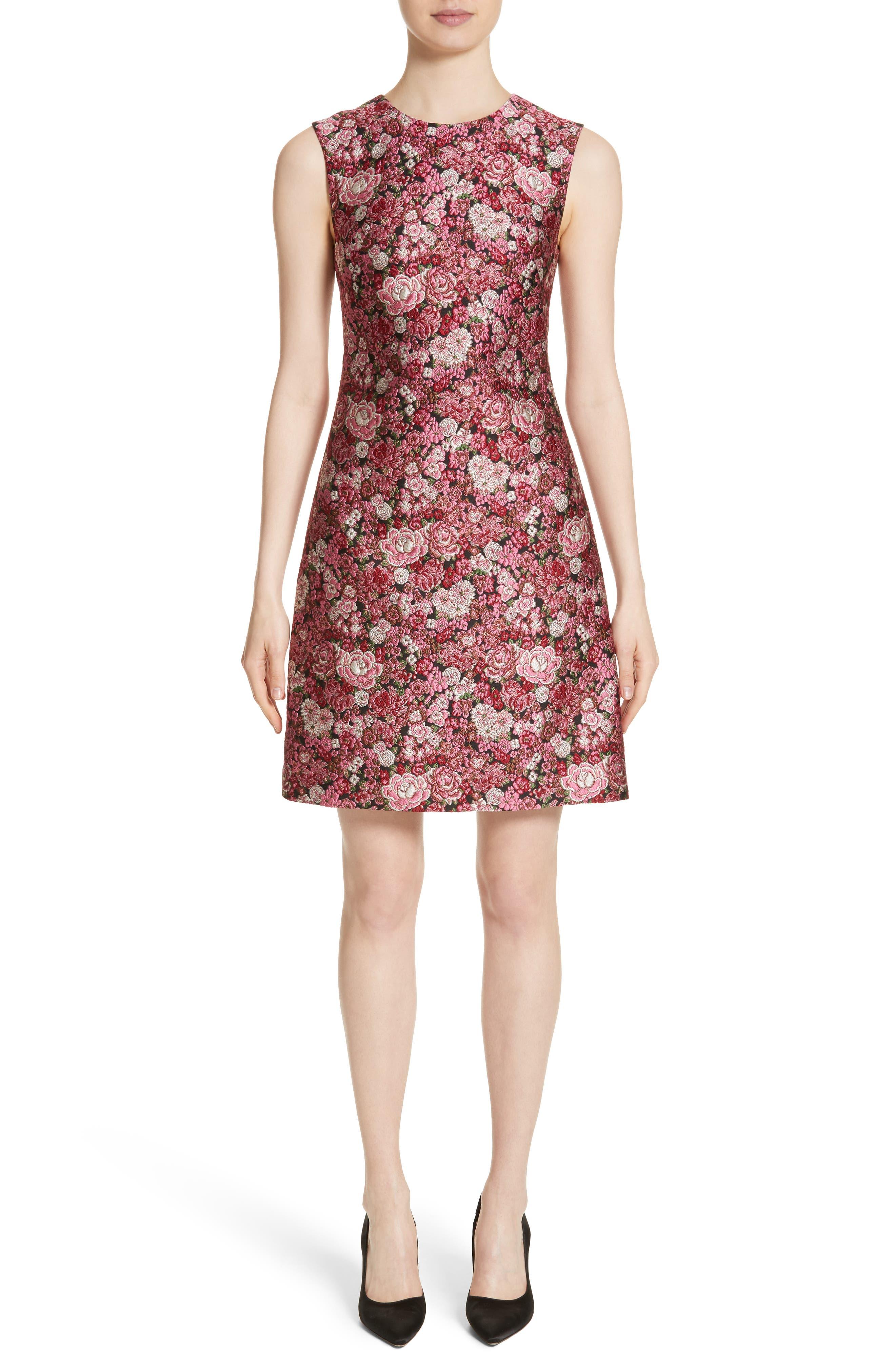 Main Image - Adam Lippes Floral Brocade Dress