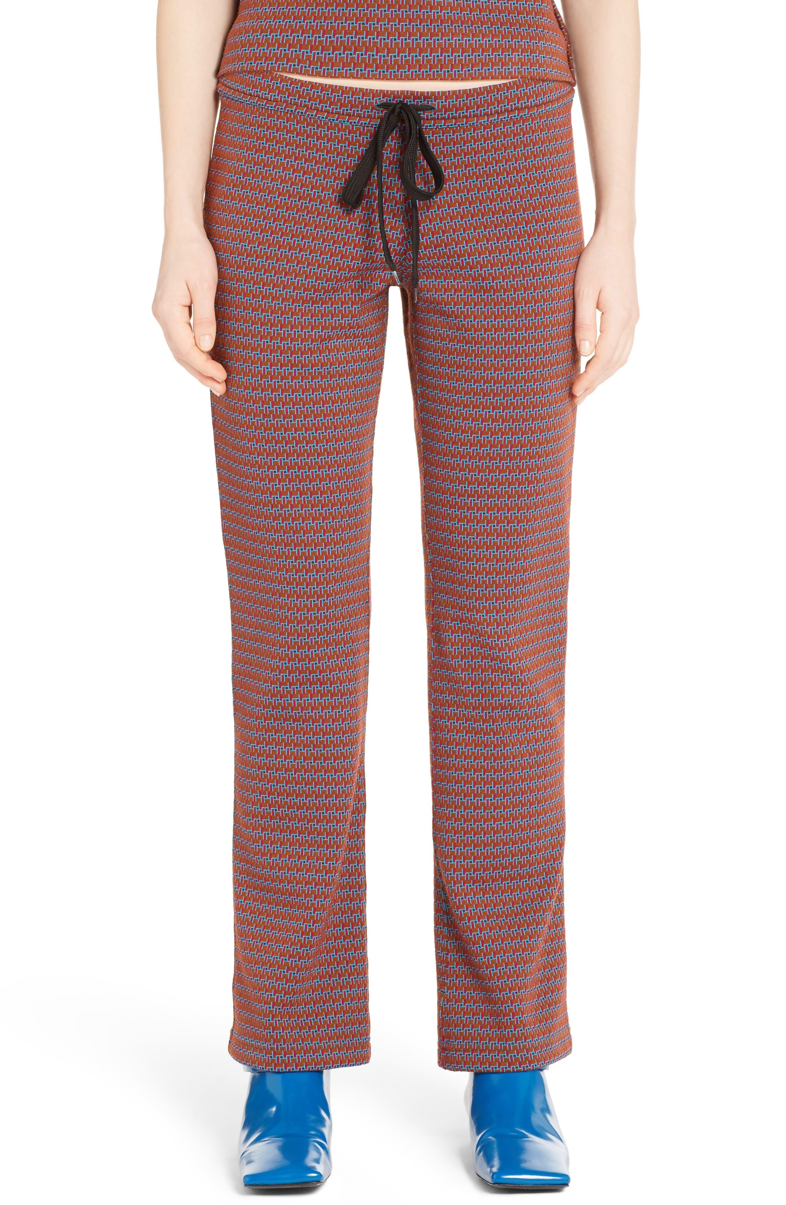 Marni Micro Pattern Jersey Drawstring Pants