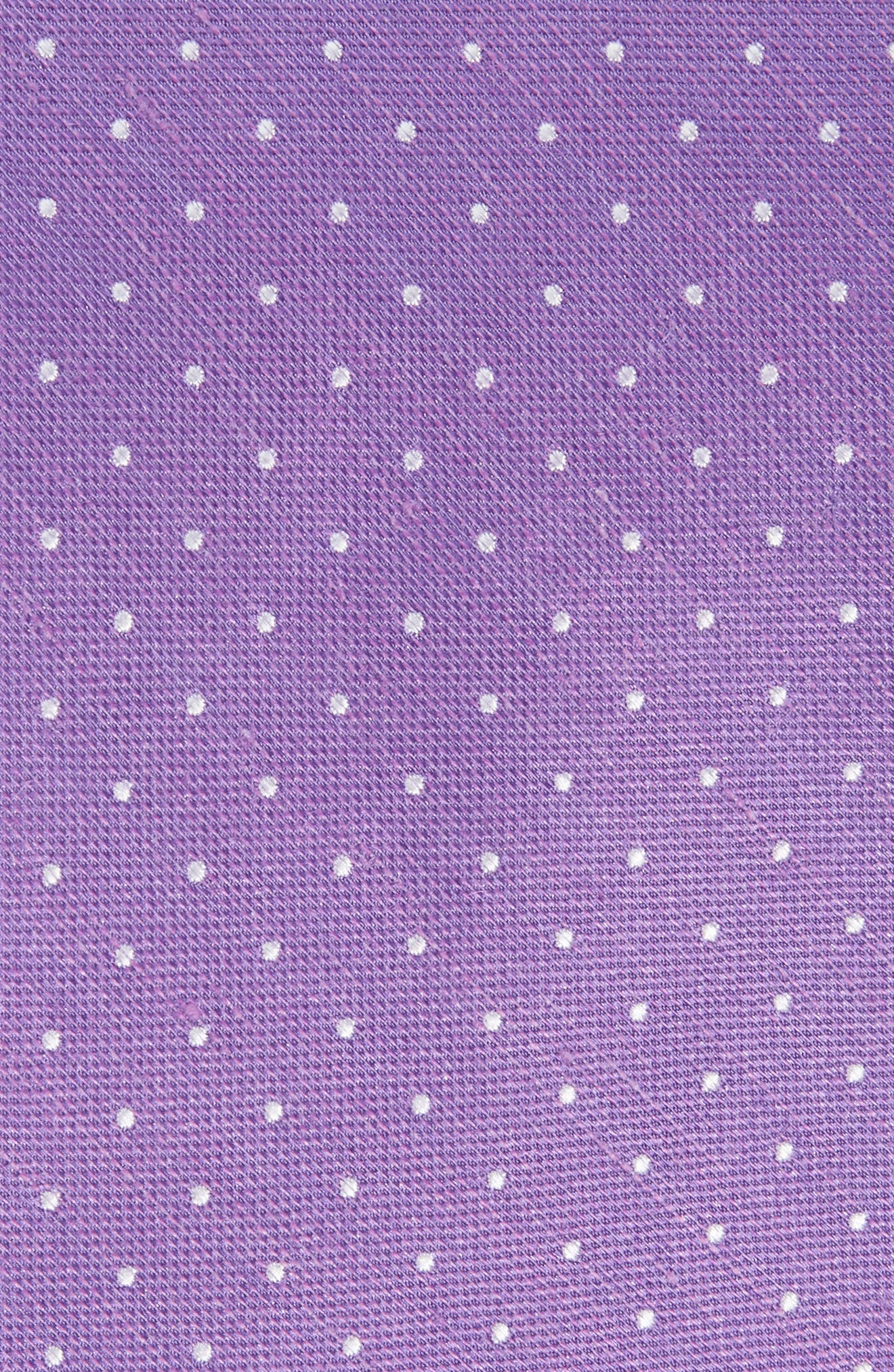 Rivington Dots Silk & Linen Tie,                             Alternate thumbnail 2, color,                             Wisteria