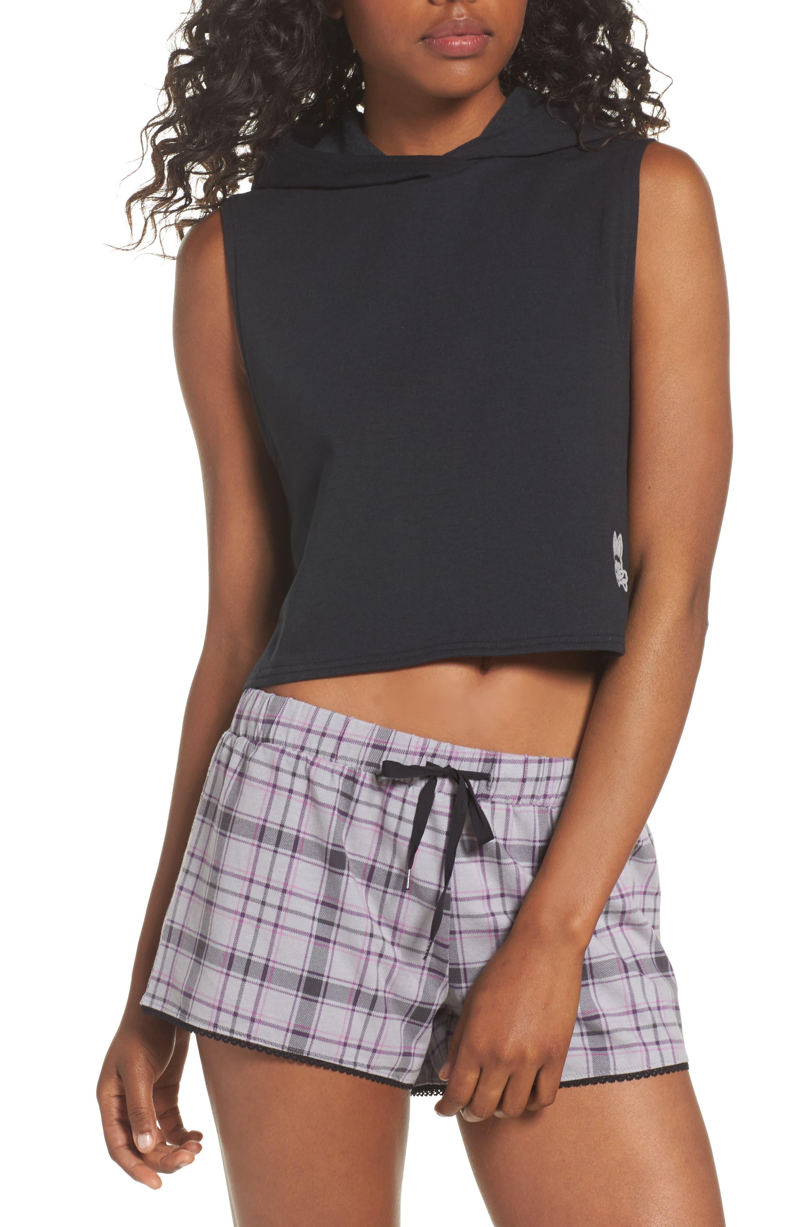 Muscle Sleeveless Hoodie,                         Main,                         color, Black Sand