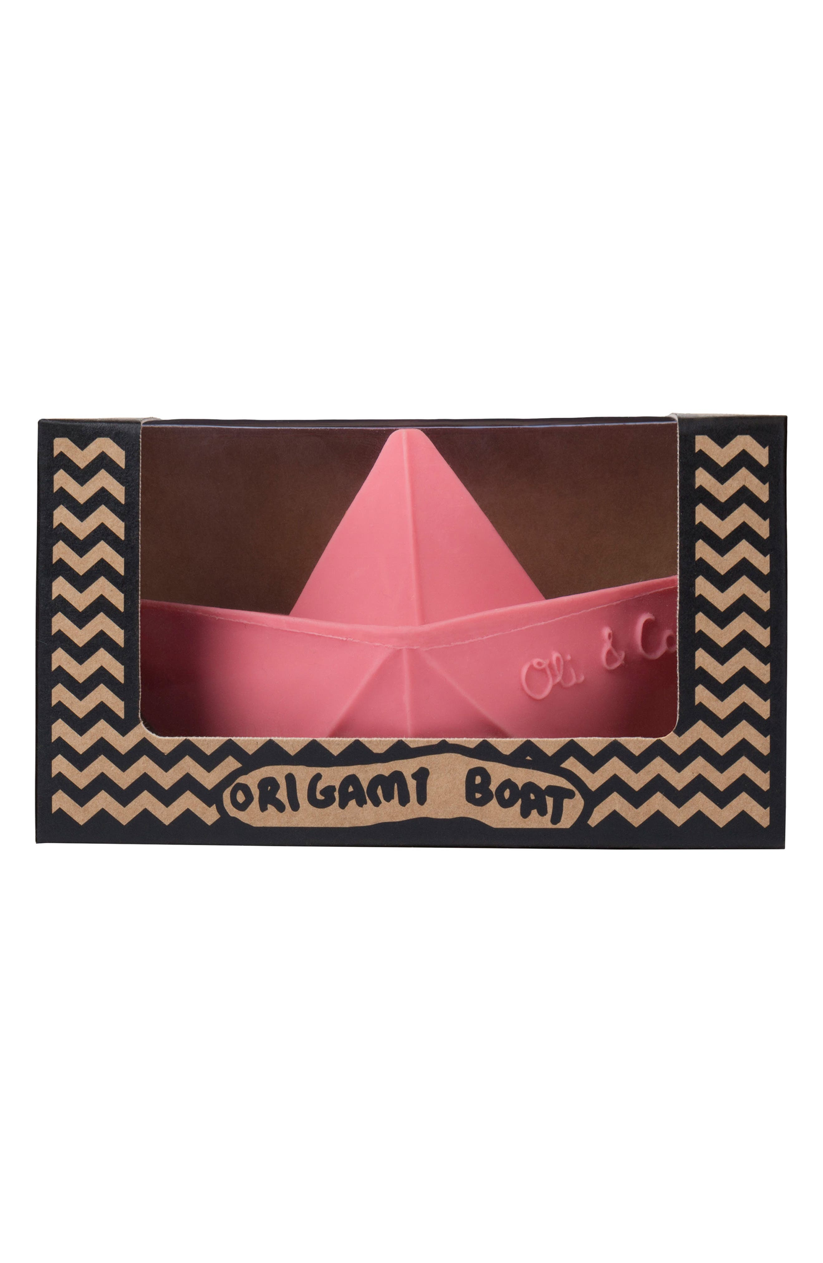 Origami Boat Bath Toy,                             Alternate thumbnail 4, color,                             Pink