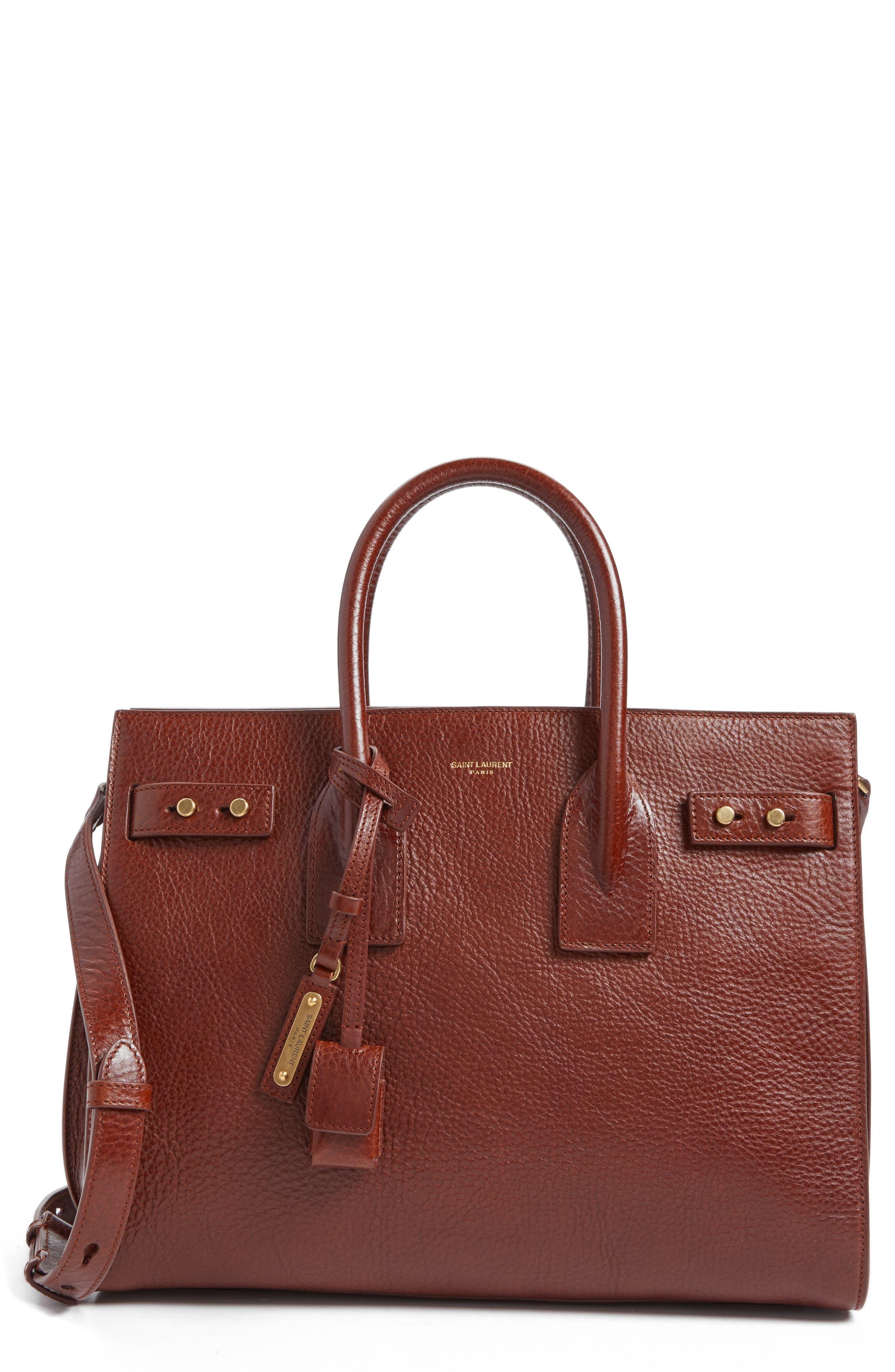 Small Sac de Jour Leather Tote,                         Main,                         color, Camel Brilliant