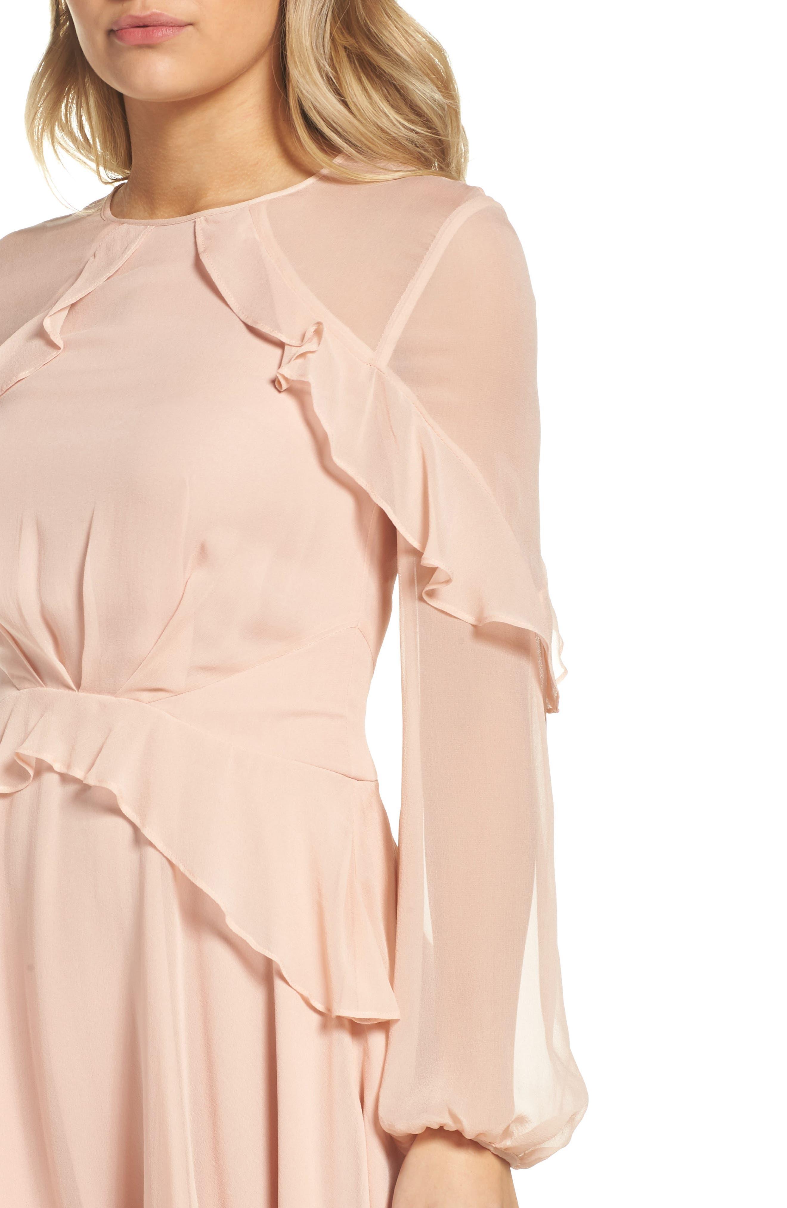 Alternate Image 5  - Greylin Libbie Ruffle Silk Dress