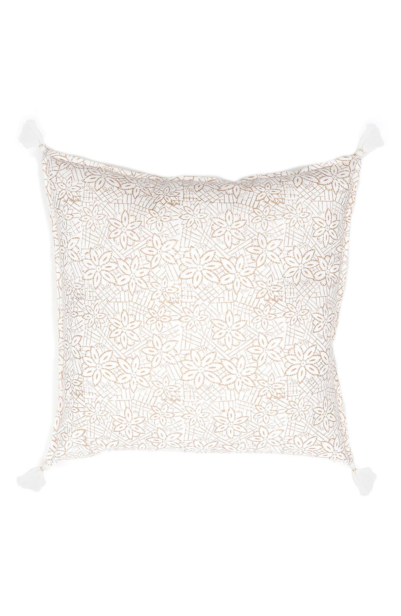 Keya Accent Pillow,                         Main,                         color, Gold