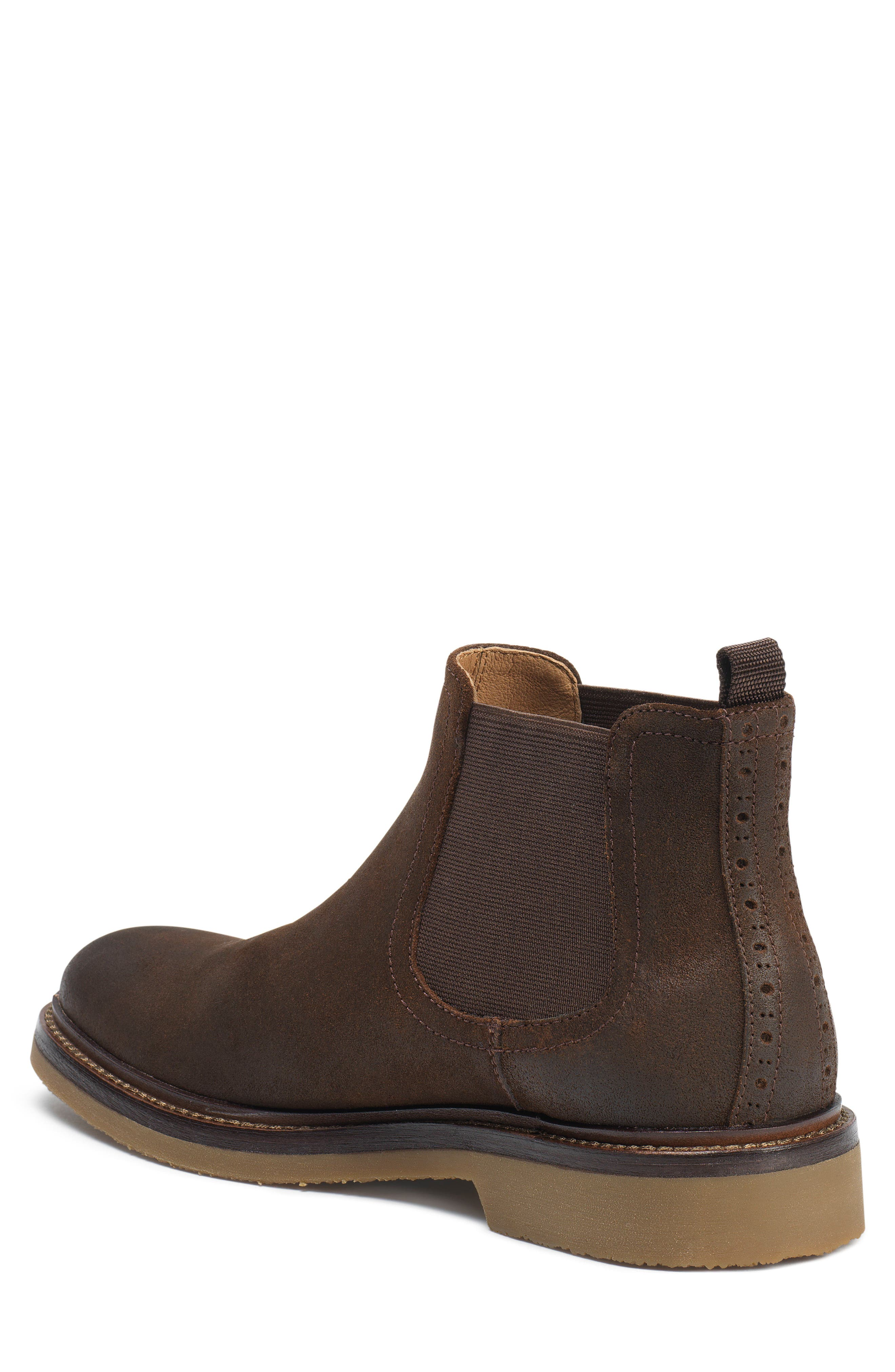 Carter Chelsea Boot,                             Alternate thumbnail 2, color,                             Snuff Waxed Suede