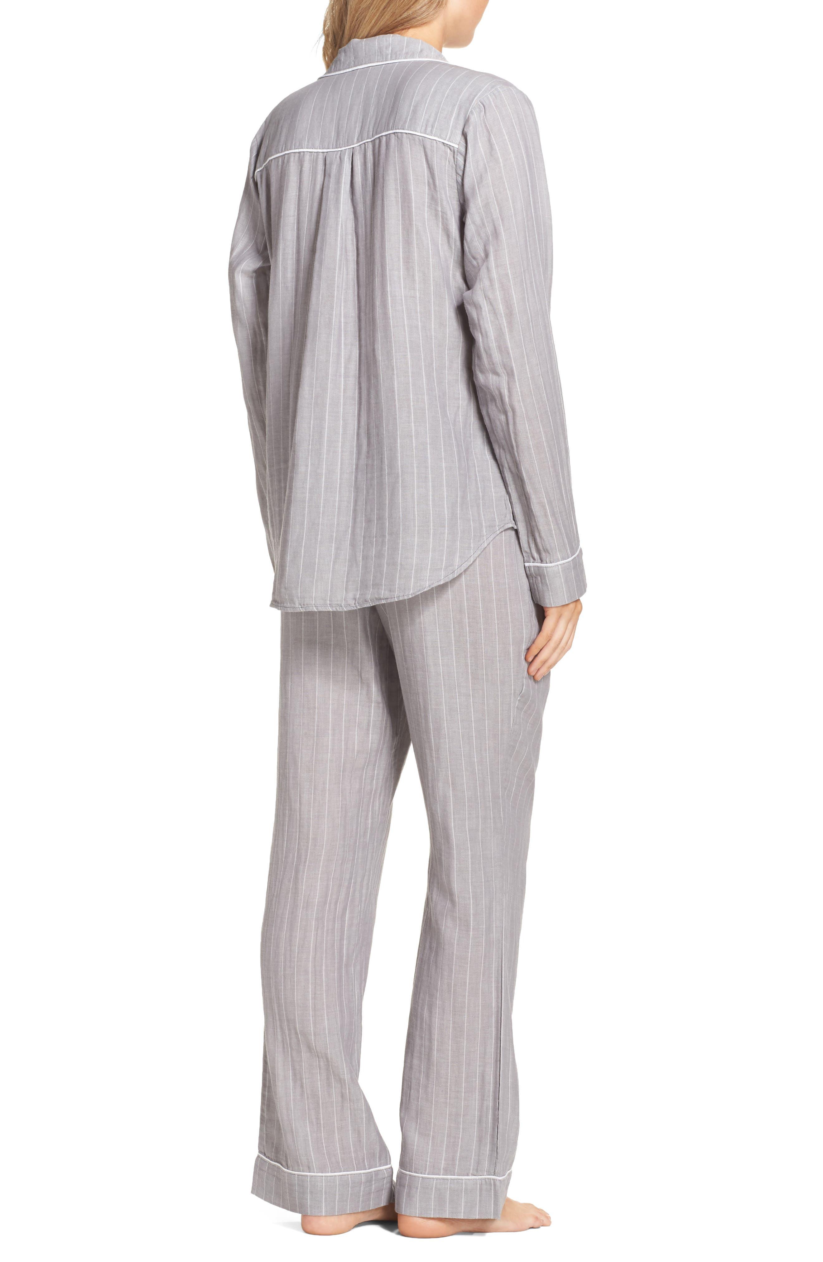Raven Stripe Pajamas,                             Alternate thumbnail 2, color,                             Seal