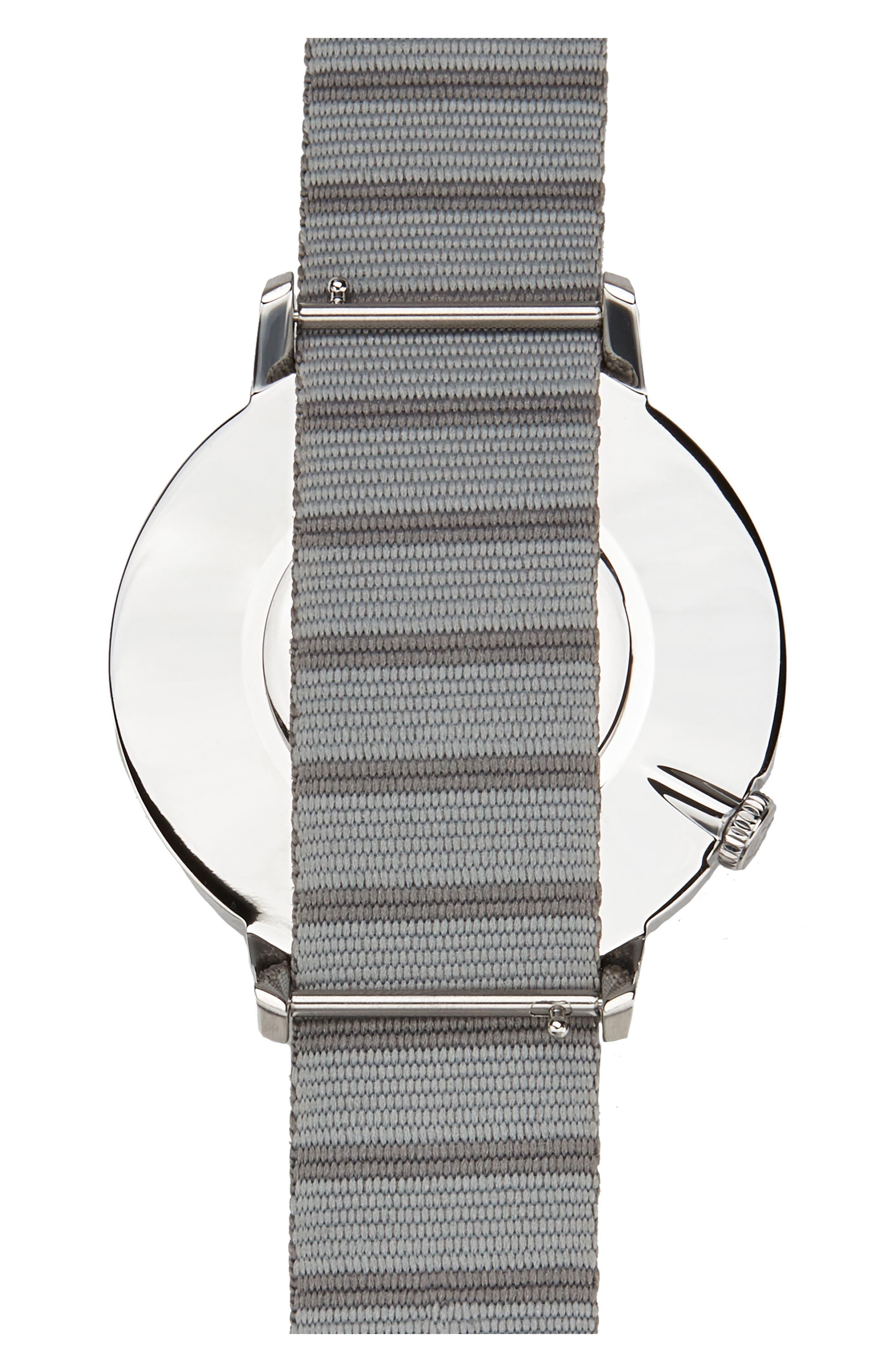 Alternate Image 2  - Canton and Hall Davis Slim Nylon Strap Watch, 44mm