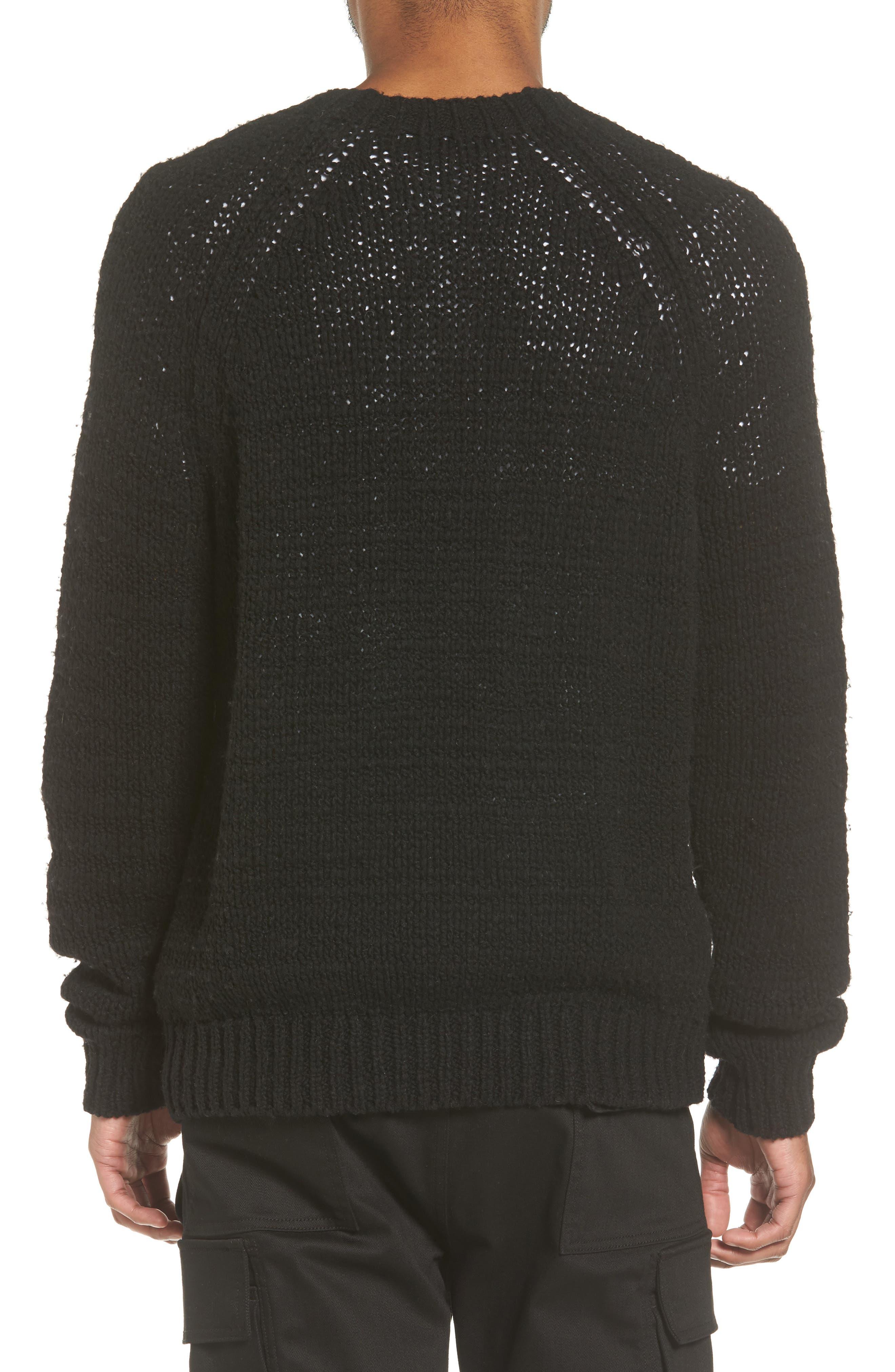 Raglan Sweater,                             Alternate thumbnail 2, color,                             Black