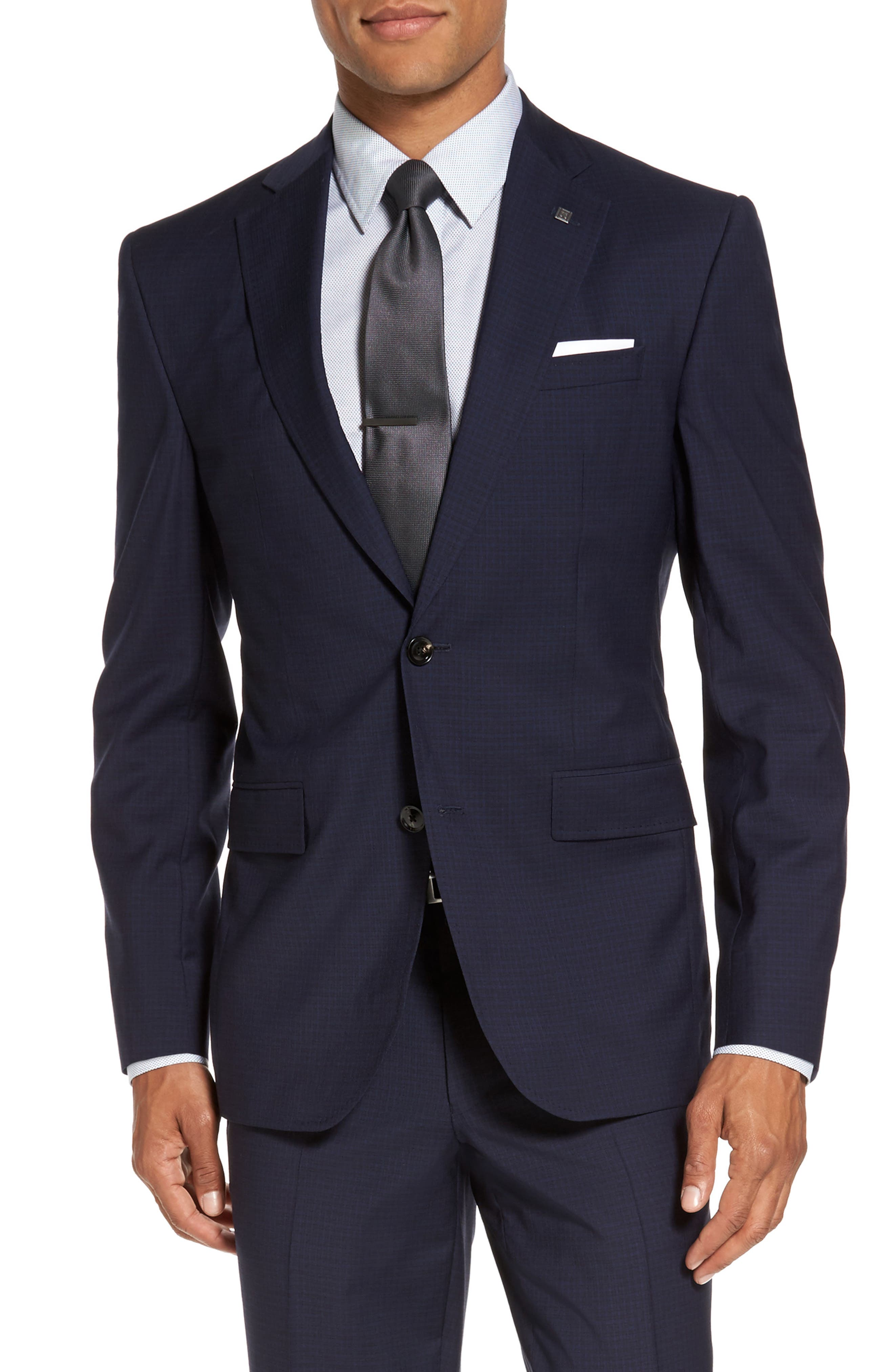 Alternate Image 5  - Ted Baker London Roger Trim Fit Check Wool Suit