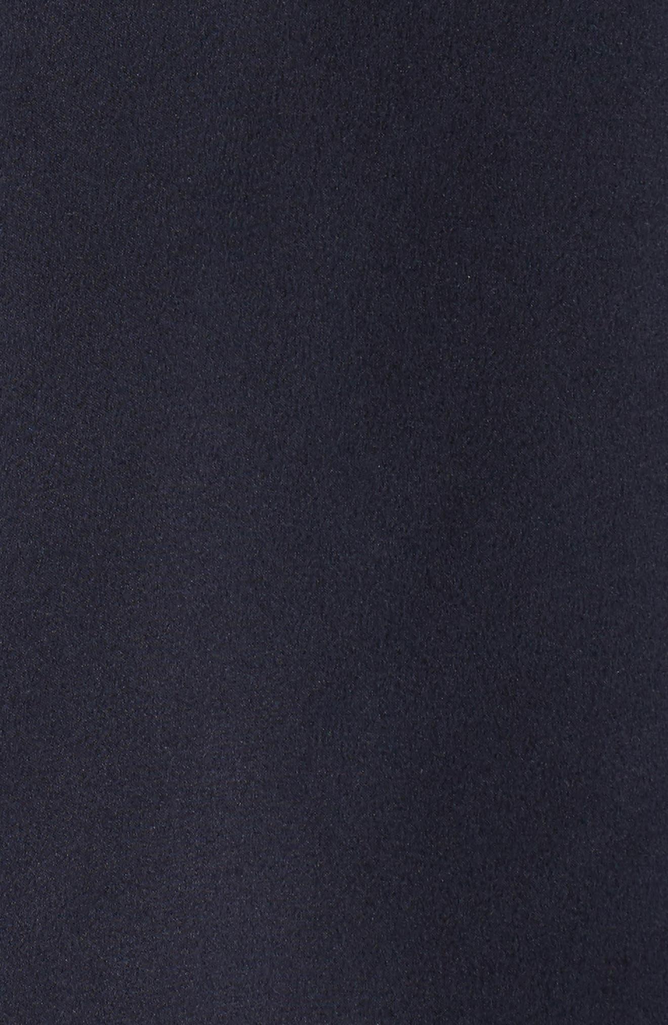 Silk Pajama Top,                             Alternate thumbnail 7, color,                             Midnight Bold Stripe