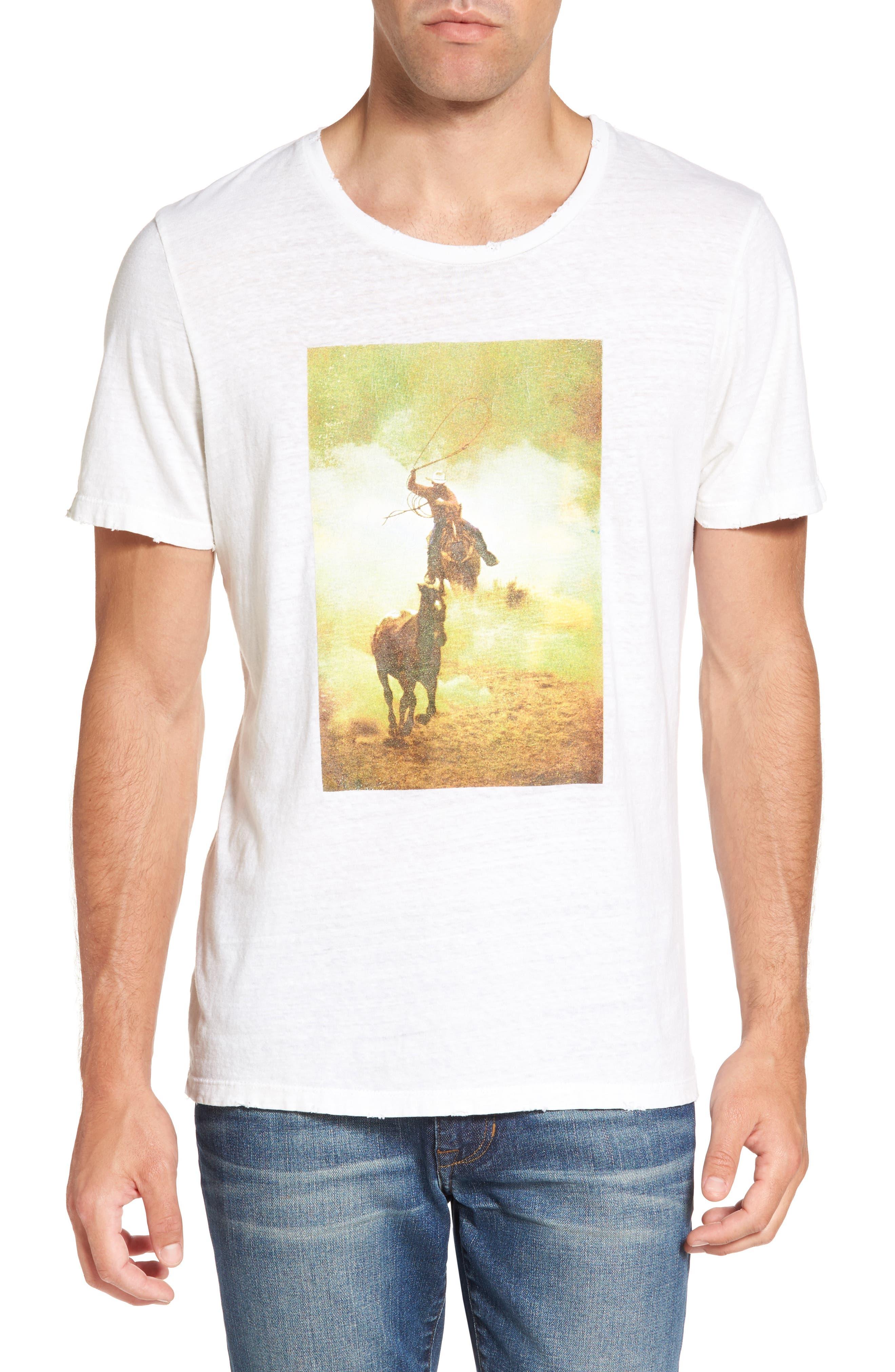 Bronco 6 T-Shirt,                             Main thumbnail 1, color,                             Blanc