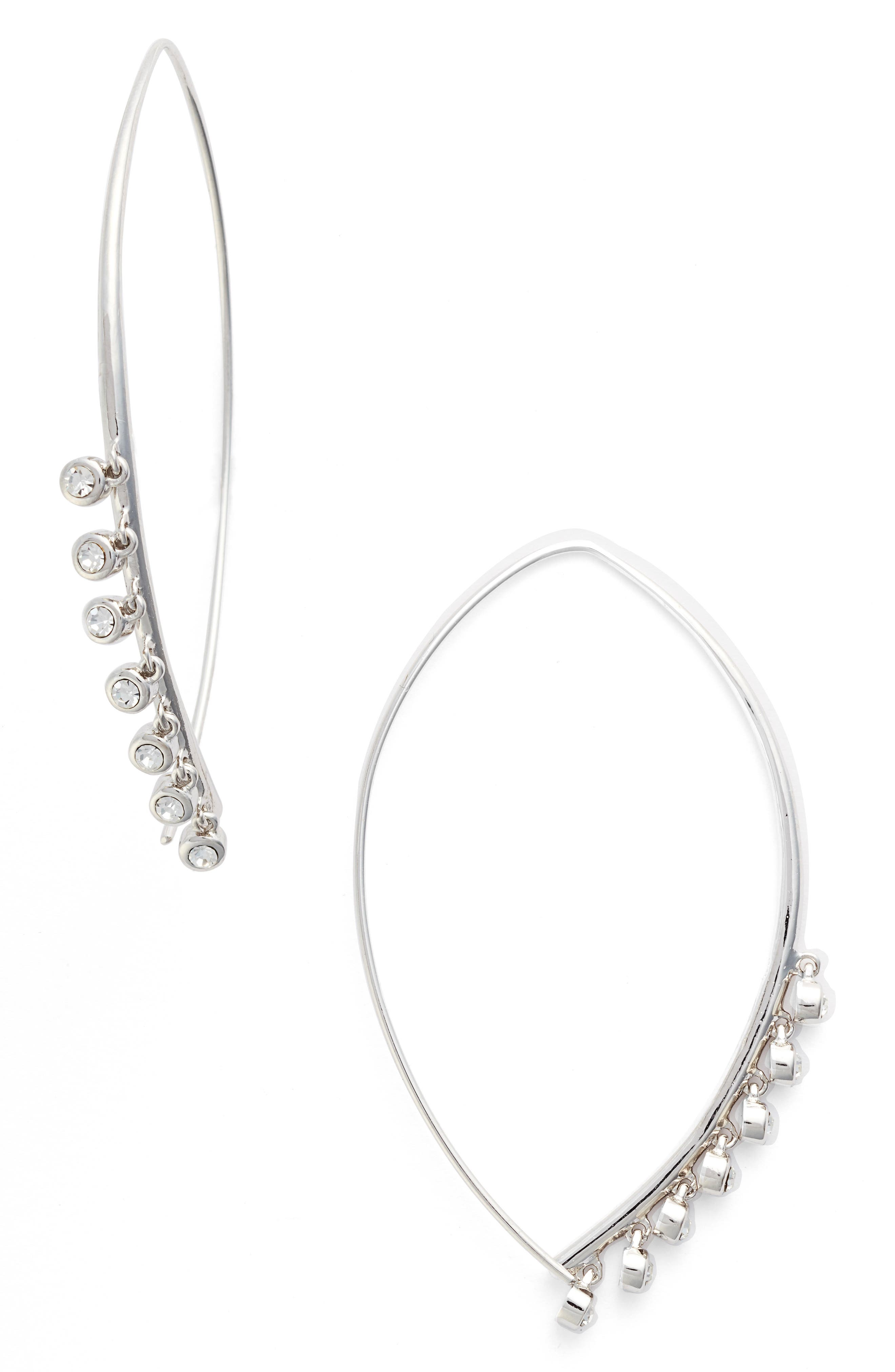 Lure Threader Earrings,                         Main,                         color, Silver/ Clear