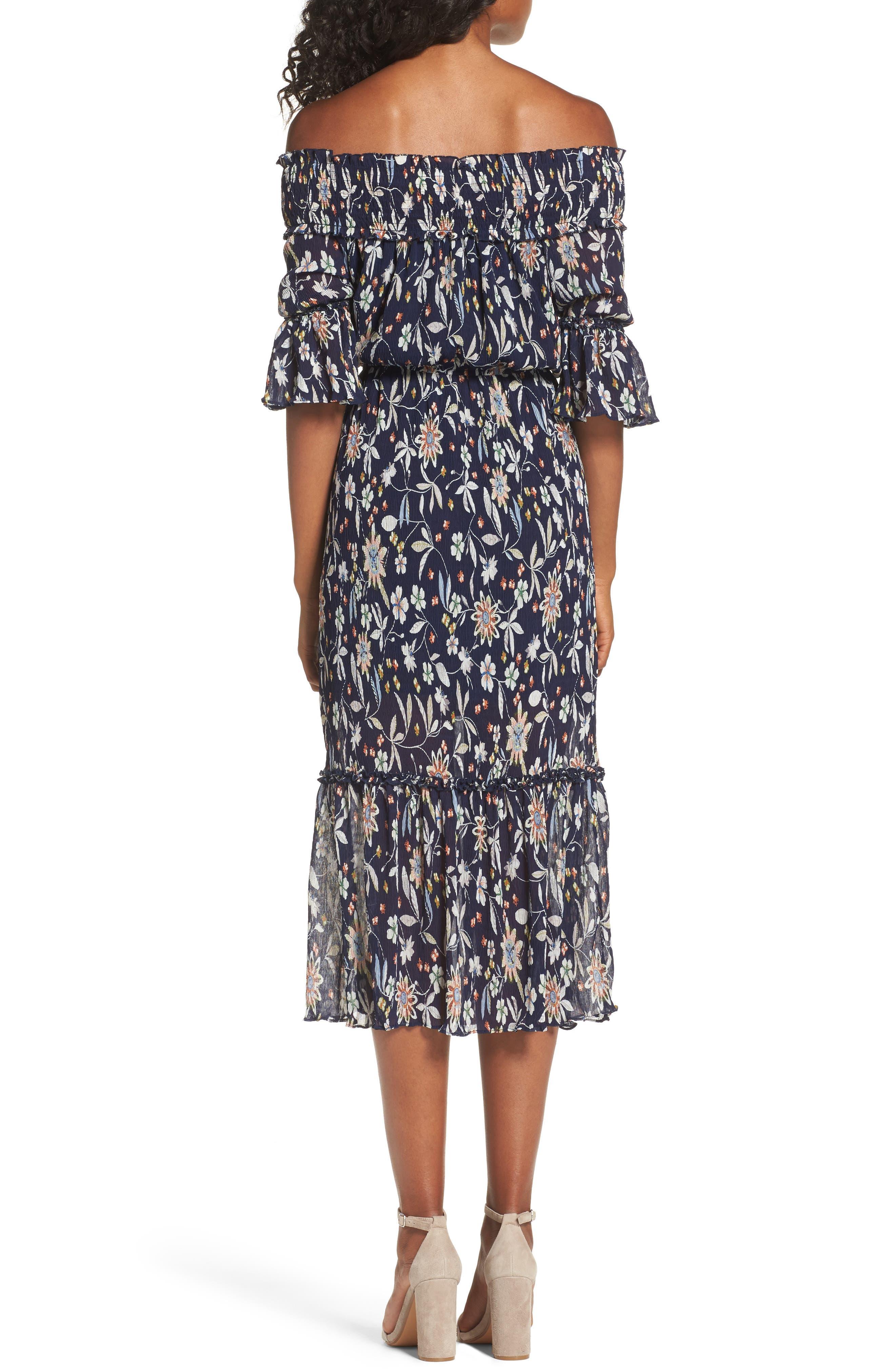 Alternate Image 2  - Chelsea28 Off the Shoulder Midi Dress