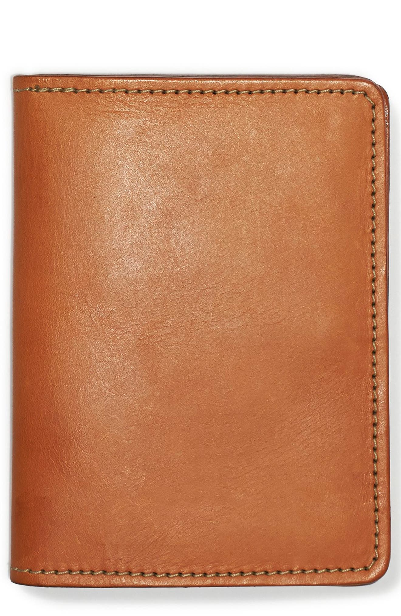 Leather Passport Case,                         Main,                         color, Tan Leather