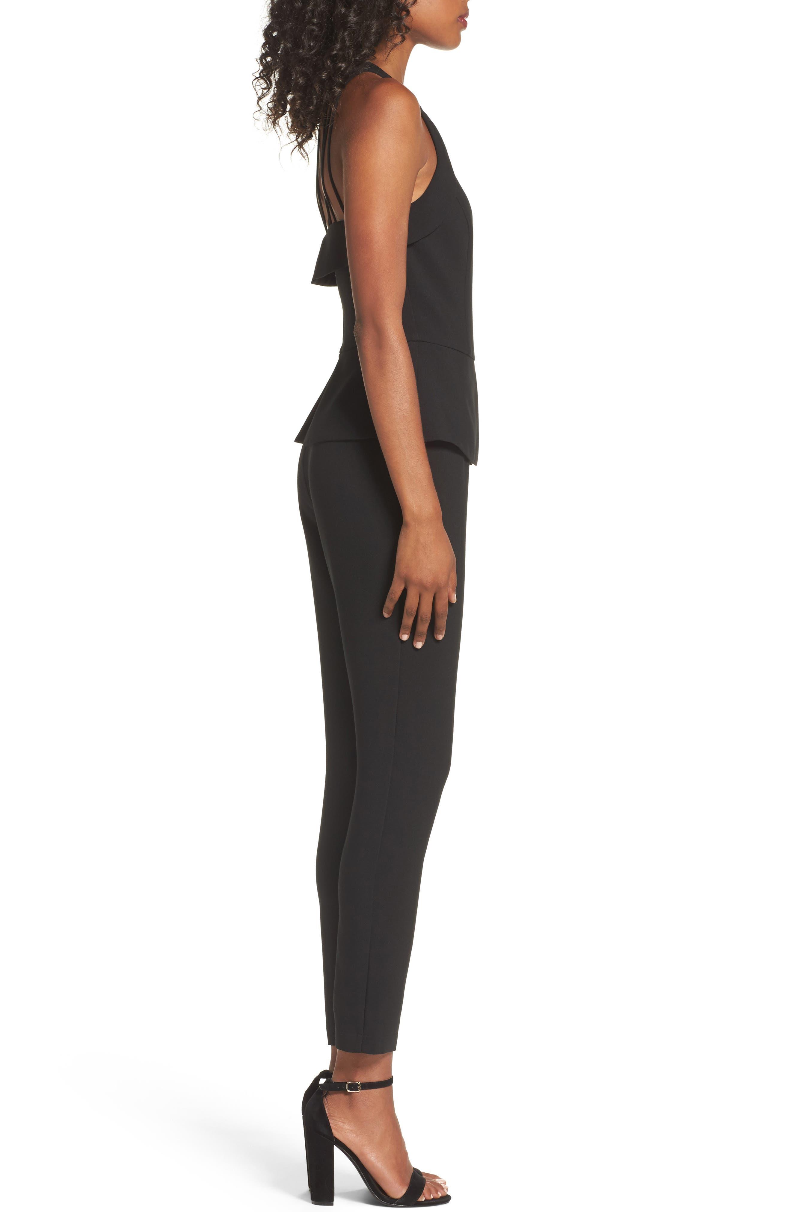 Marlena Jumpsuit,                             Alternate thumbnail 3, color,                             Black