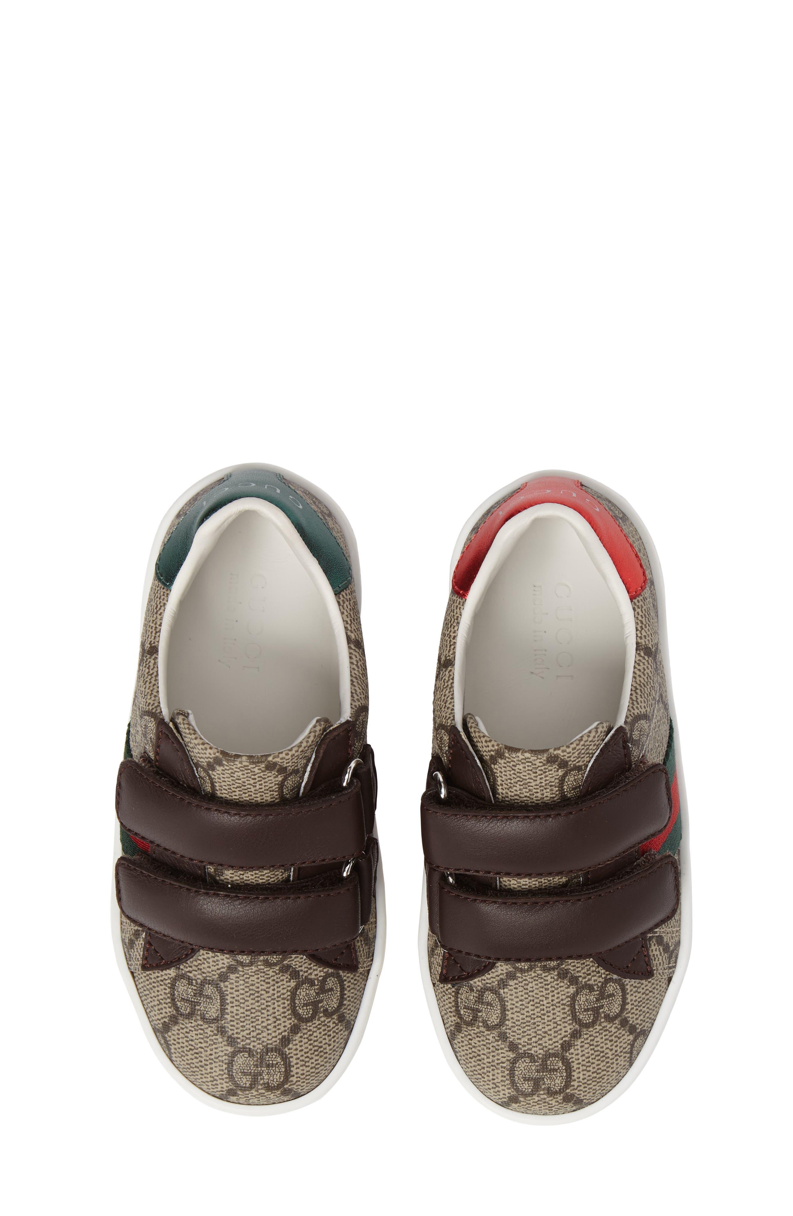 Alternate Image 1 Selected - Gucci New Ace Monogram Sneaker (Baby, Walker, Toddler, Little Kid & Big Kid)