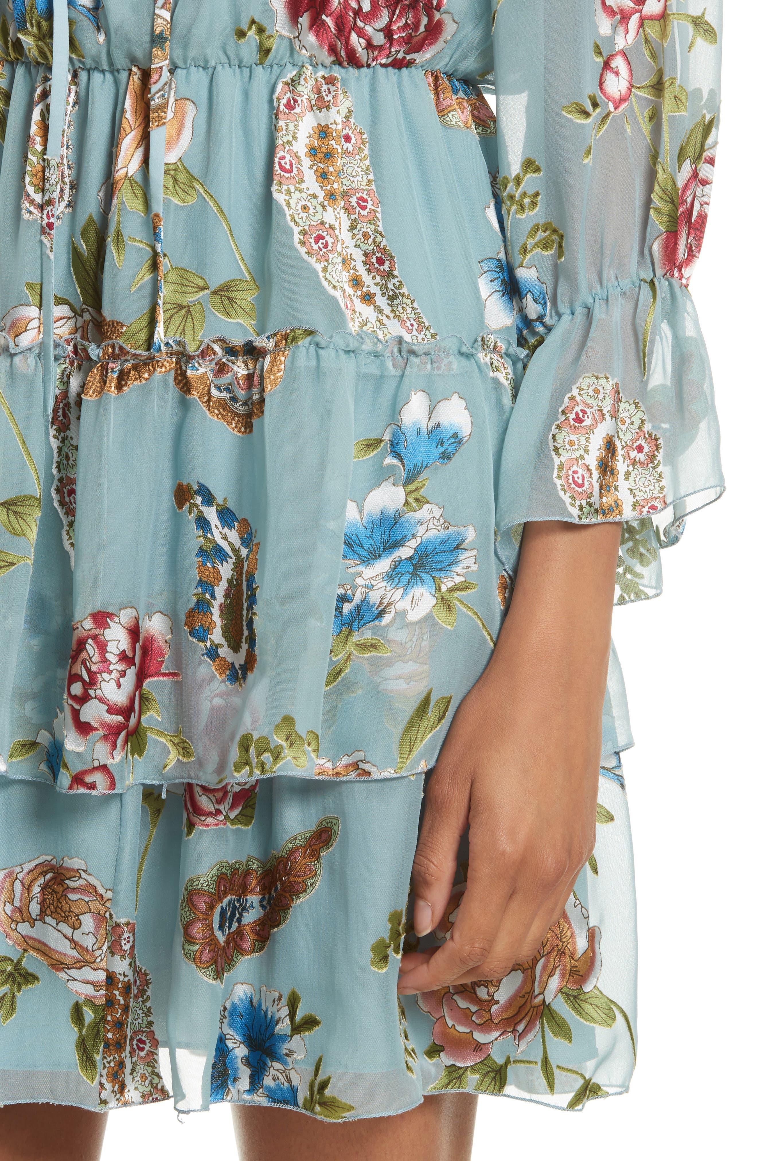 Alternate Image 5  - Alice + Olivia Waylon Off the Shoulder Blouson Dress