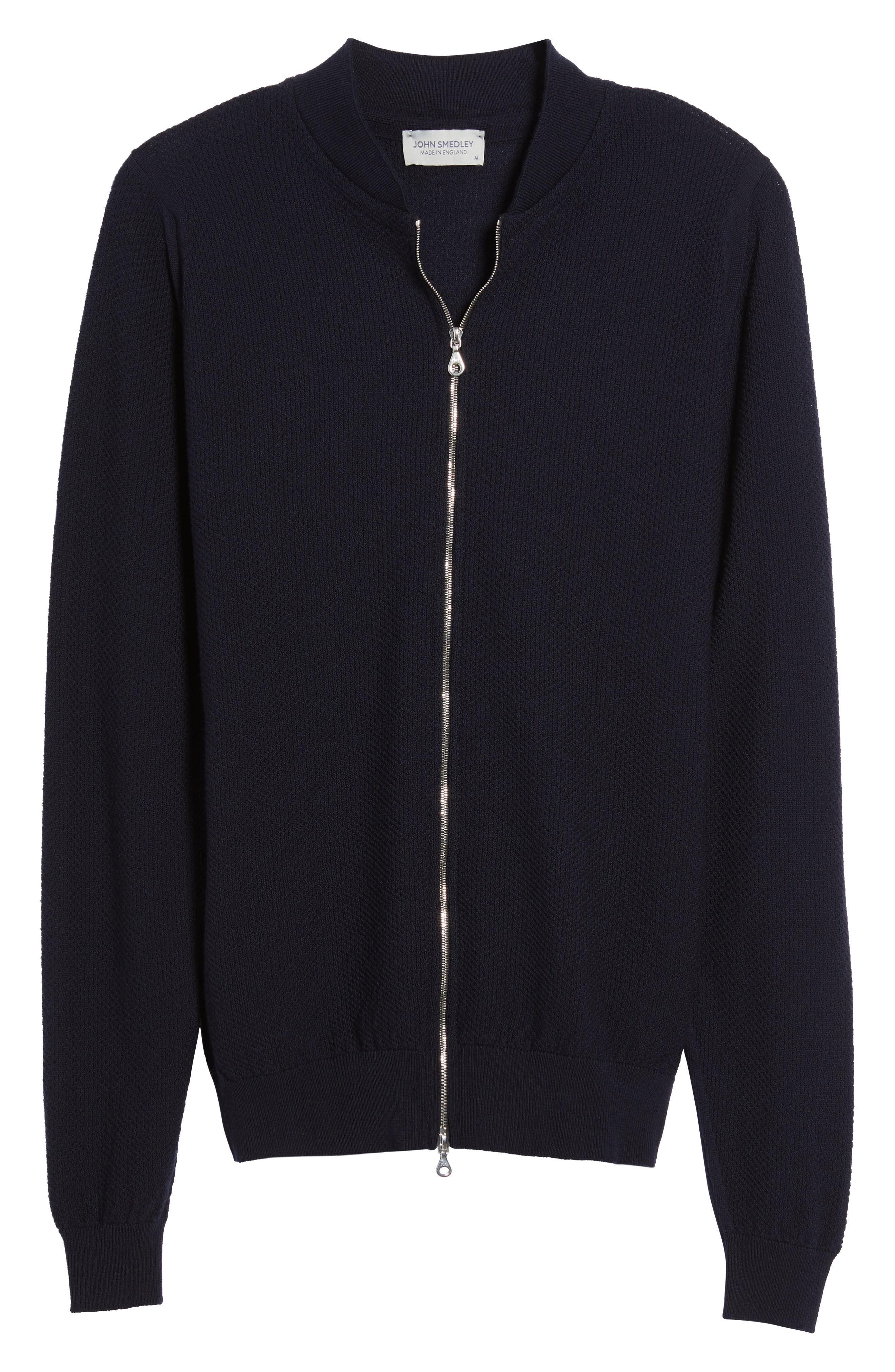 Alternate Image 6  - John Smedley Standard Fit Merino Wool Knit Jacket