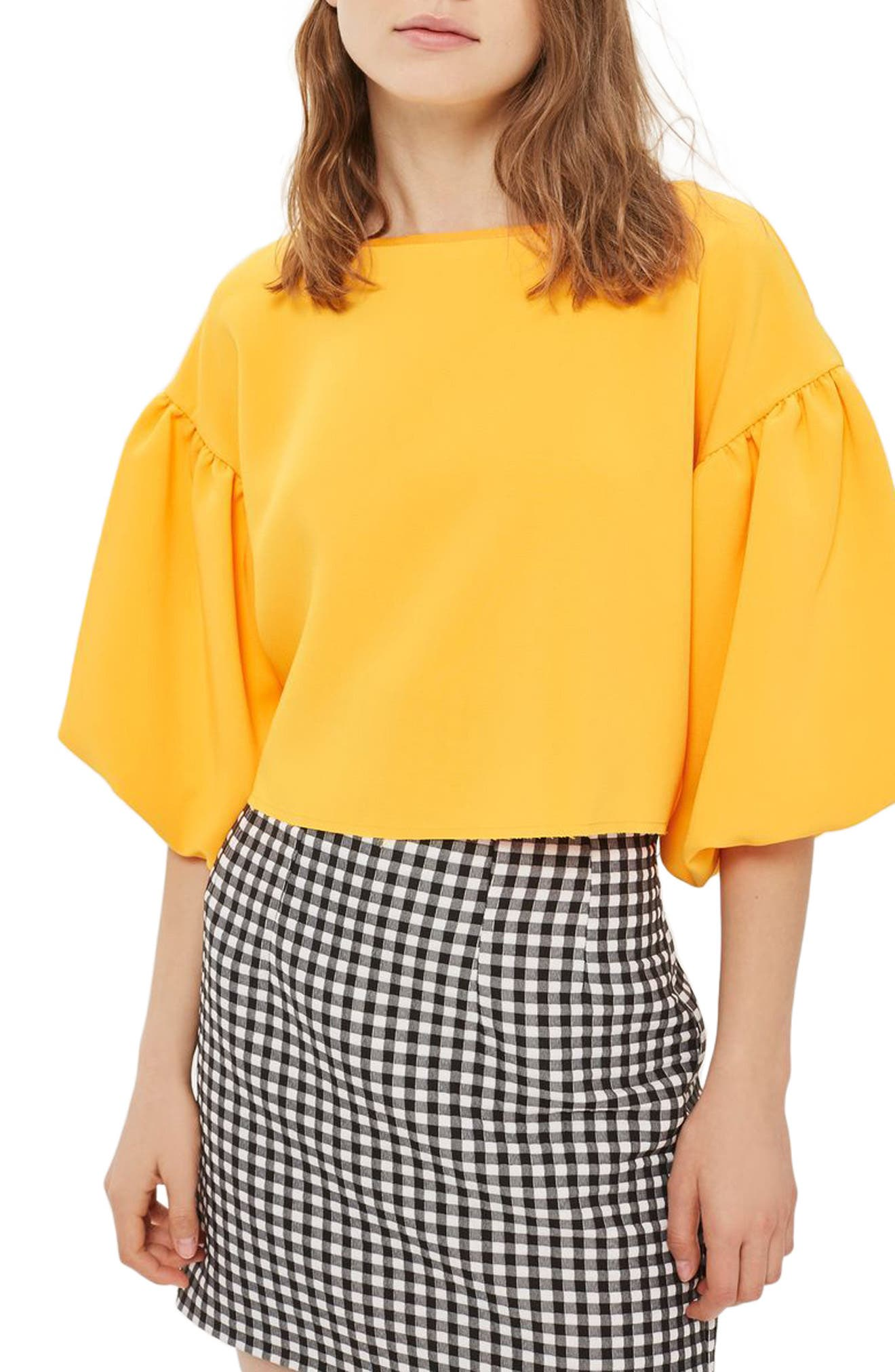 Topshop Puff Sleeve Top