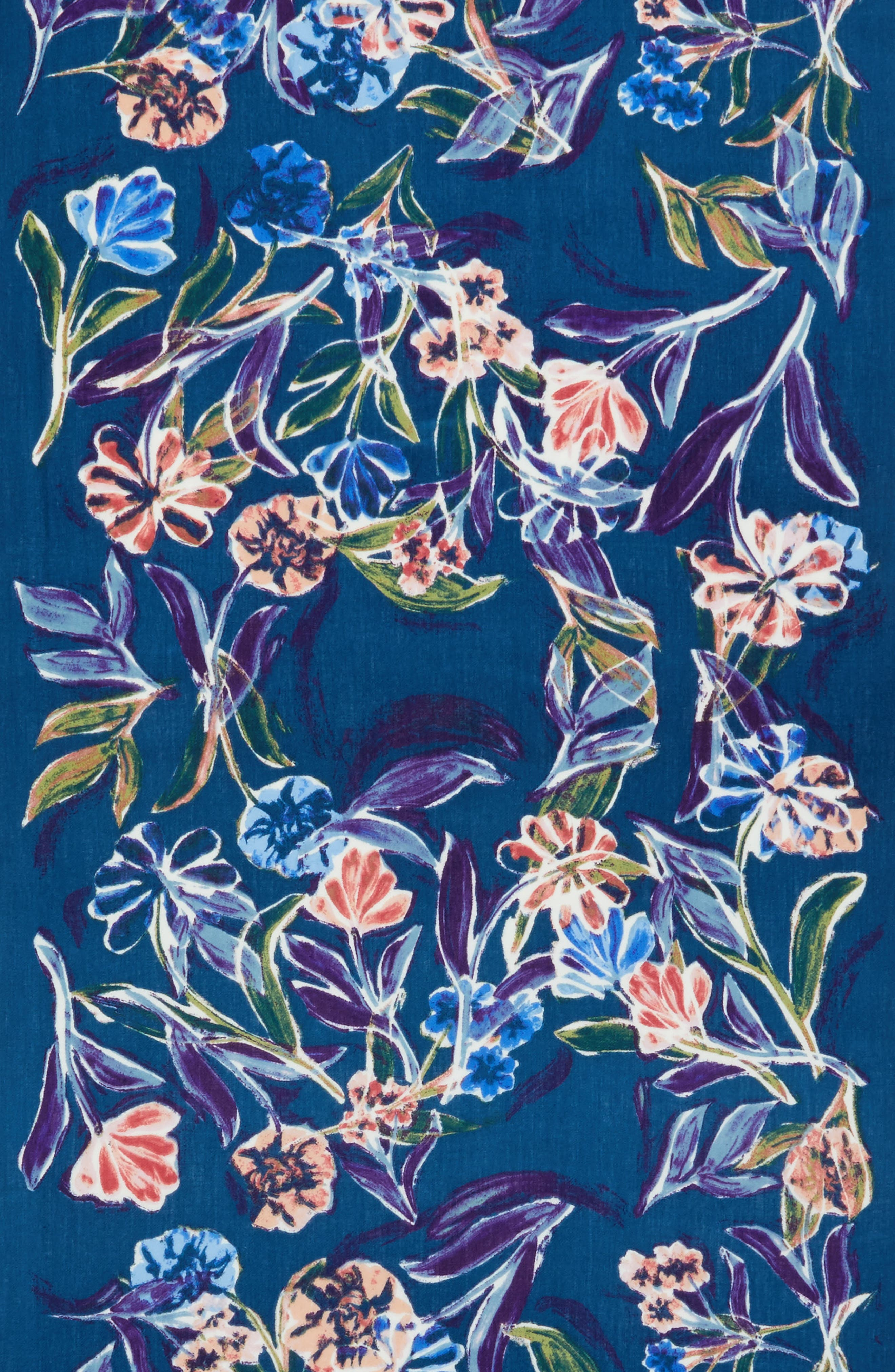 Alternate Image 4  - Nordstrom Pressed Flowers Tissue Weight Wool & Cashmere Scarf