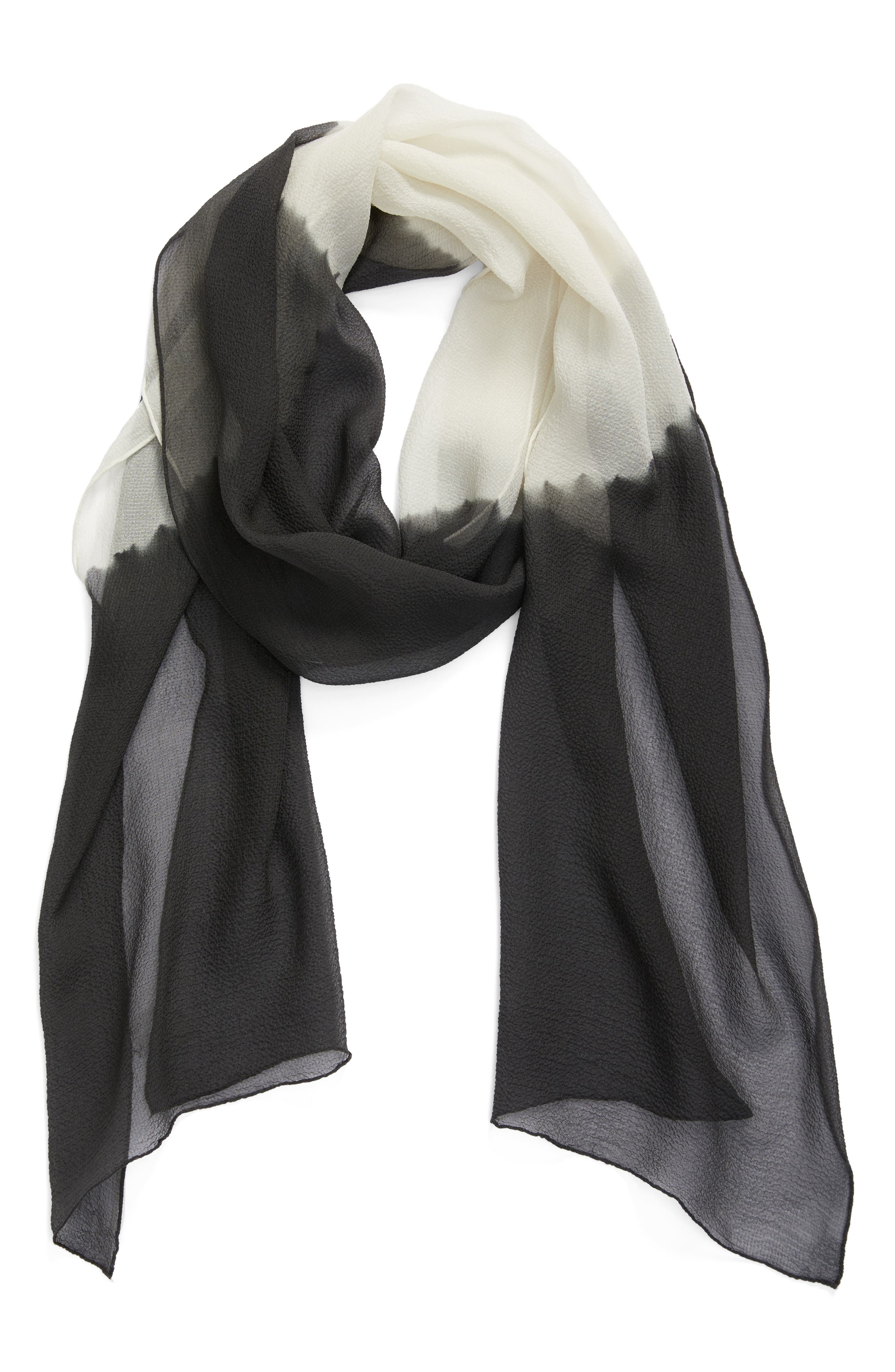 Alternate Image 2  - Eileen Fisher Colorblock Silk Scarf