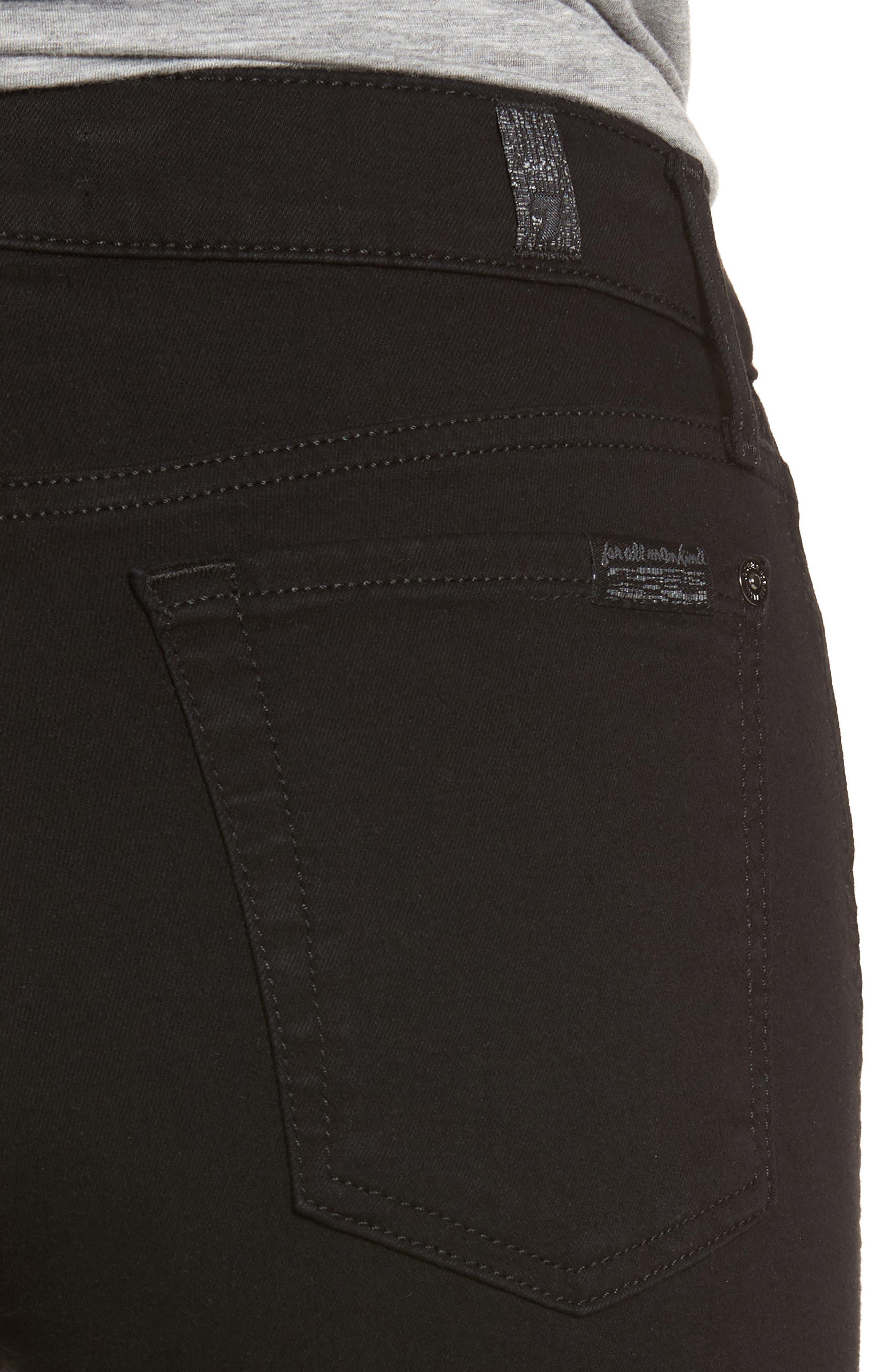 Alternate Image 4  - 7 For All Mankind® b(air) Crop Bootcut Jeans (b(air) Black)