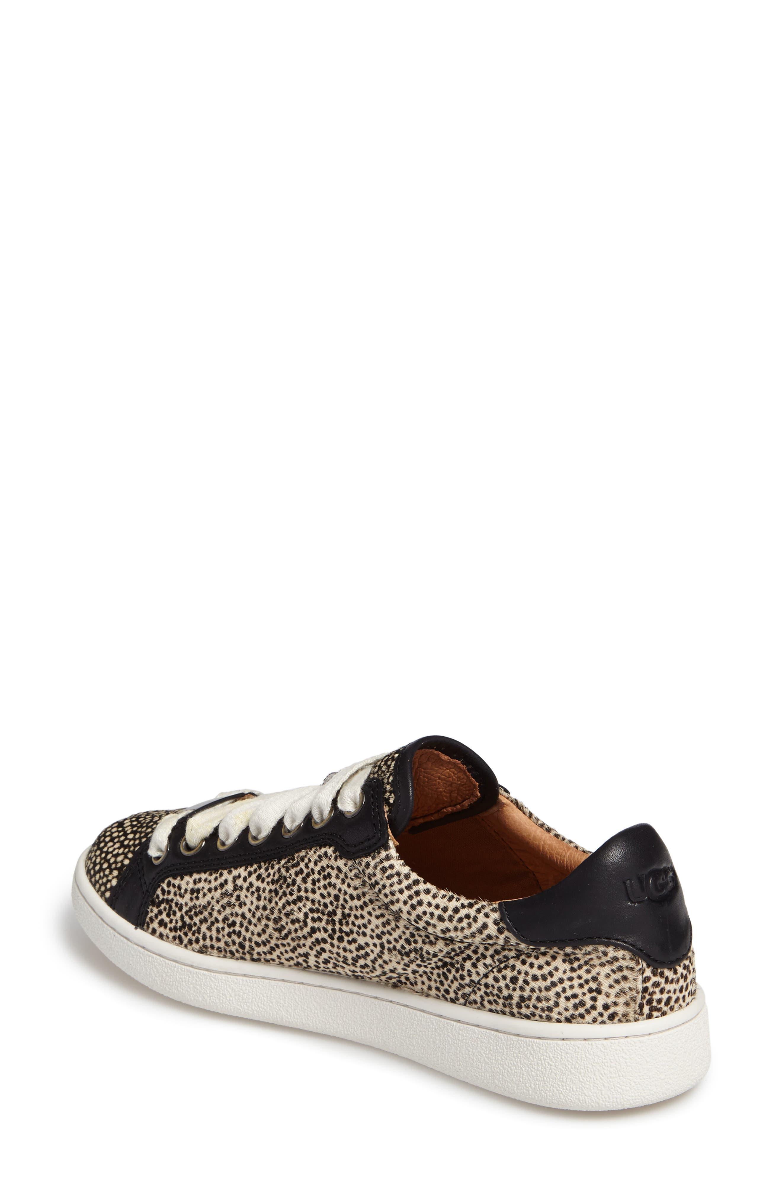 Alternate Image 2  - UGG® Milo Genuine Calf Hair Sneaker (Women)