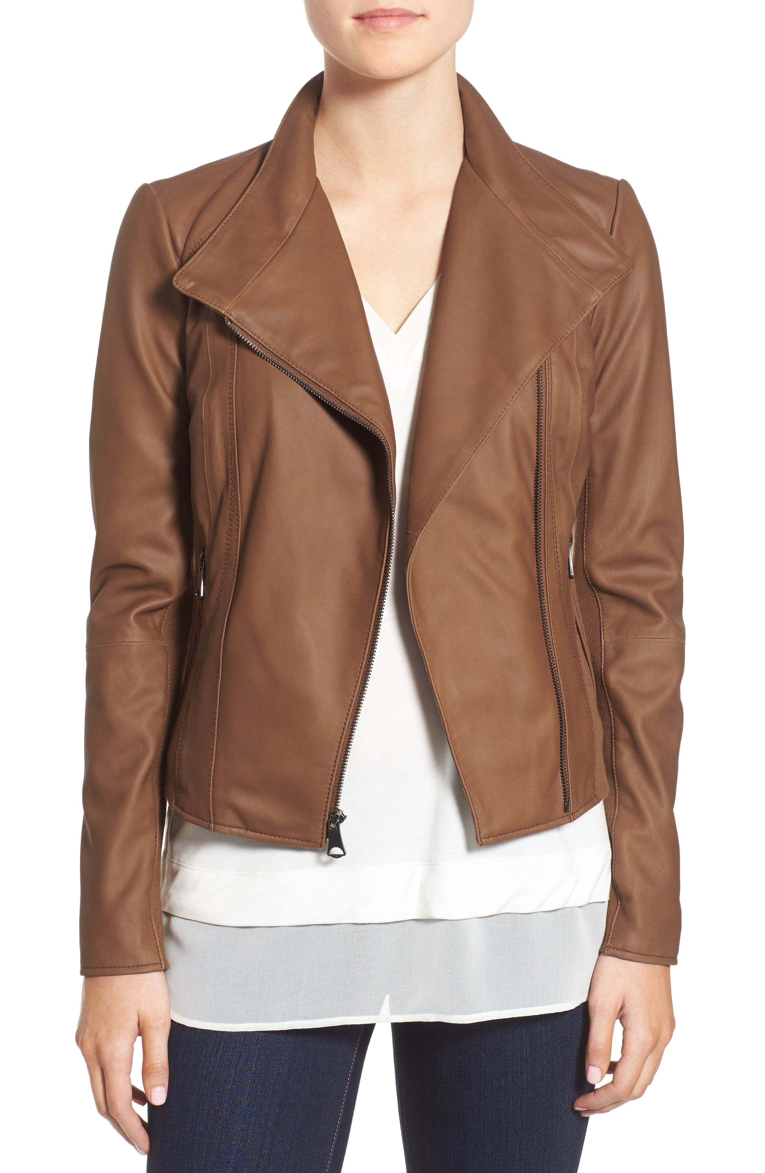 Main Image - Marc New York by Andrew Marc 'Felix' Stand Collar Leather Jacket