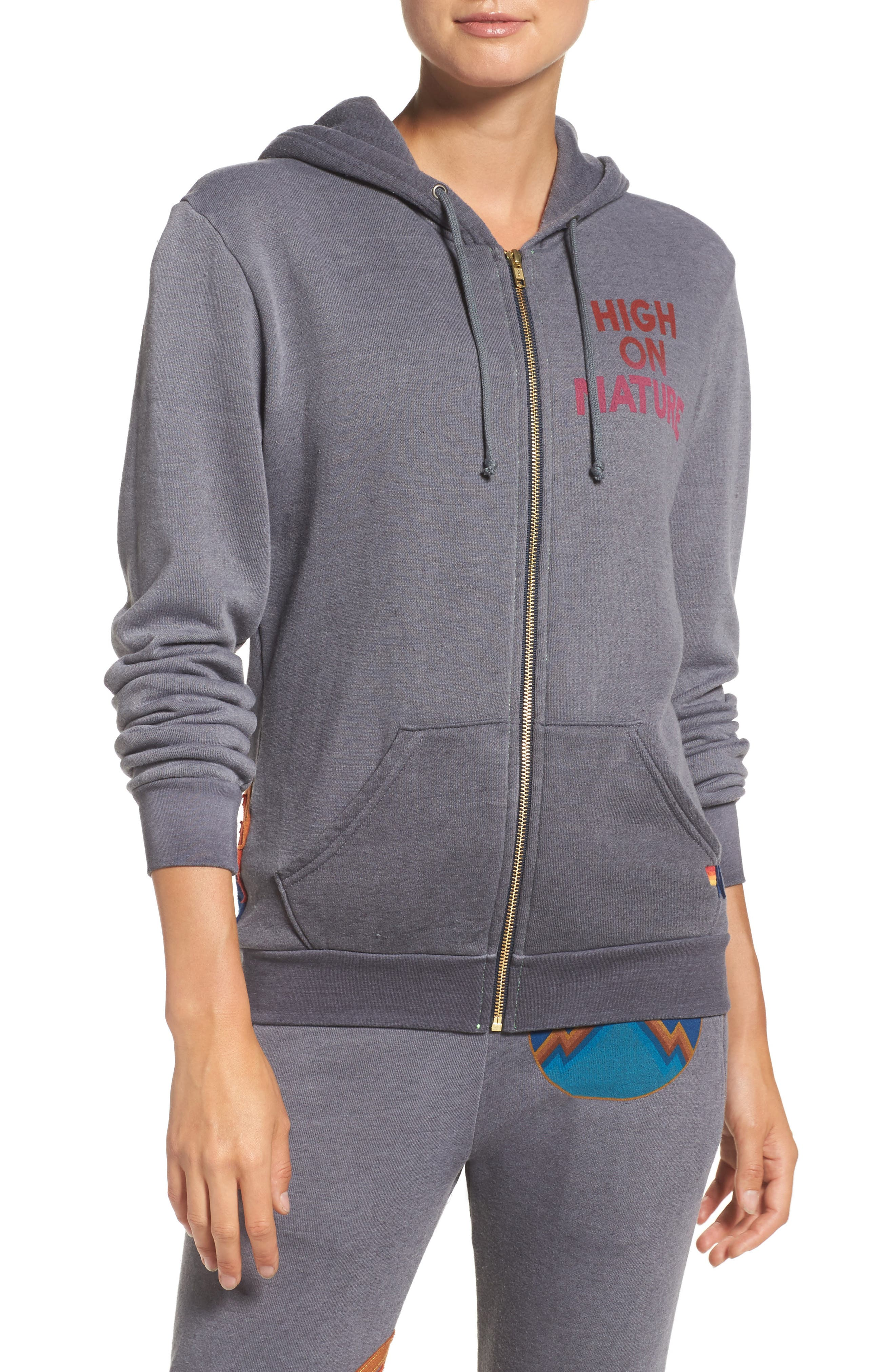 High on Nature Hoodie,                         Main,                         color, Grey
