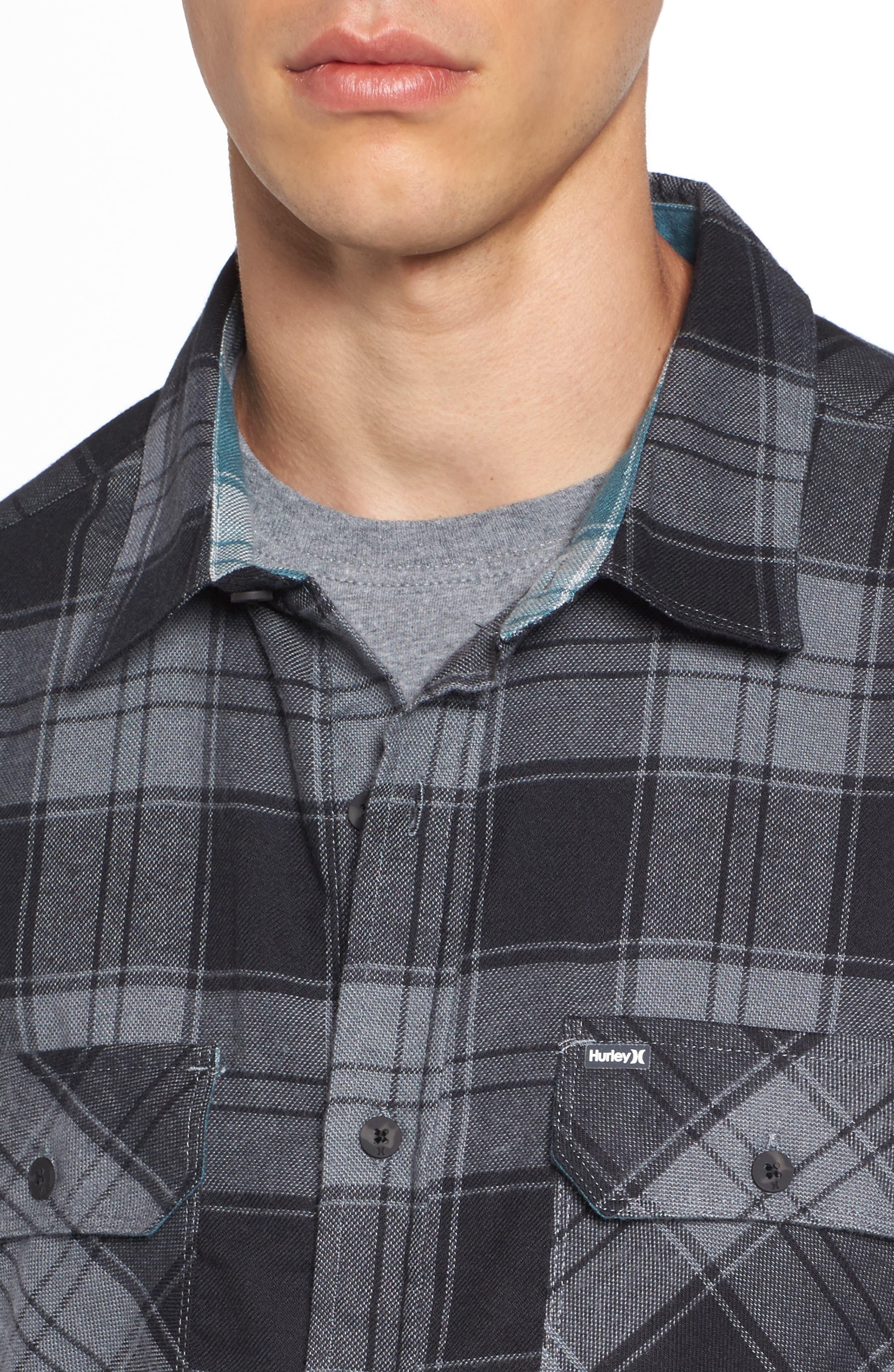 Alternate Image 4  - Hurley Check Dri-FIT Shirt
