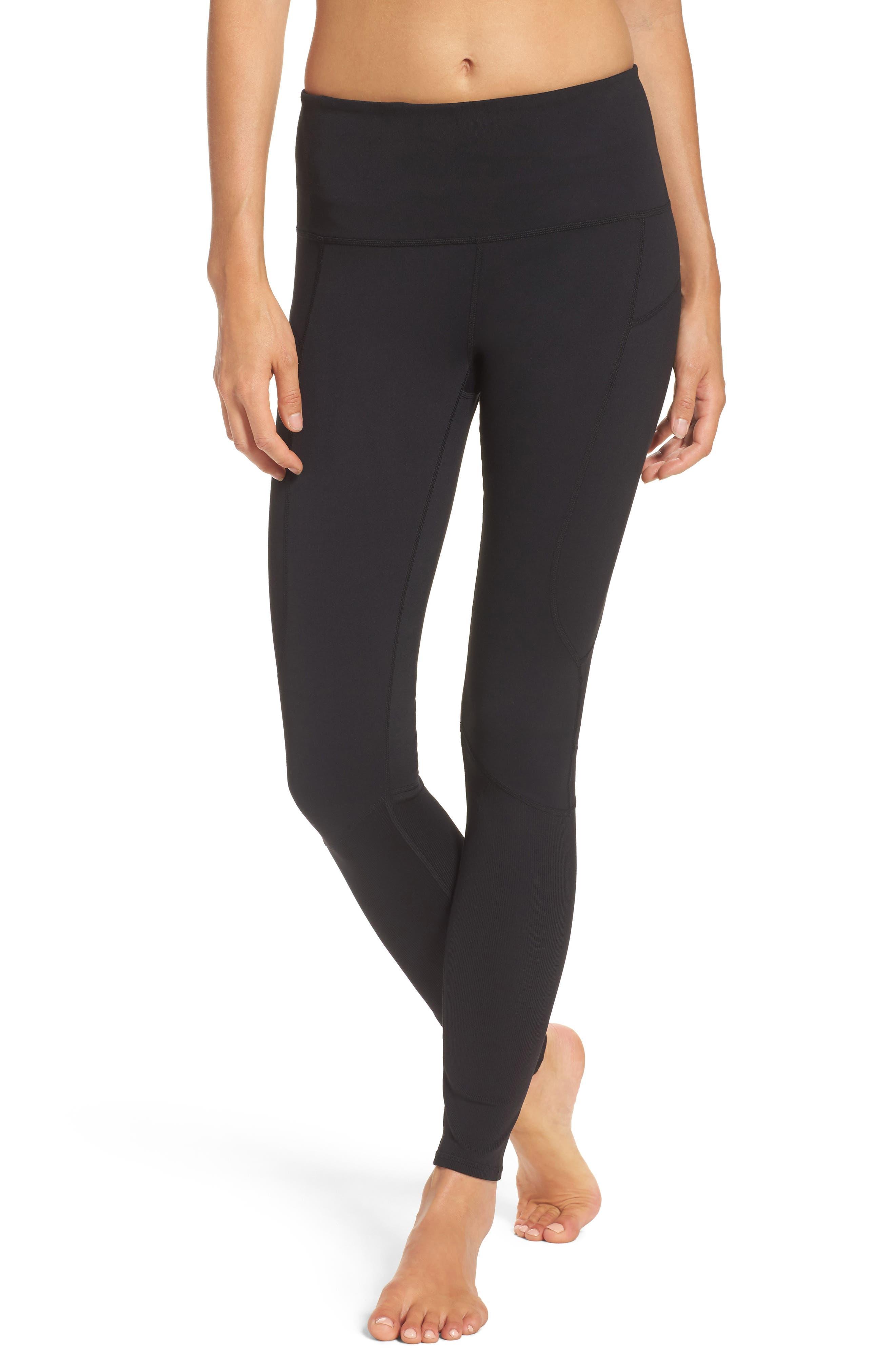 Double Dare High Waist Leggings,                         Main,                         color, Black