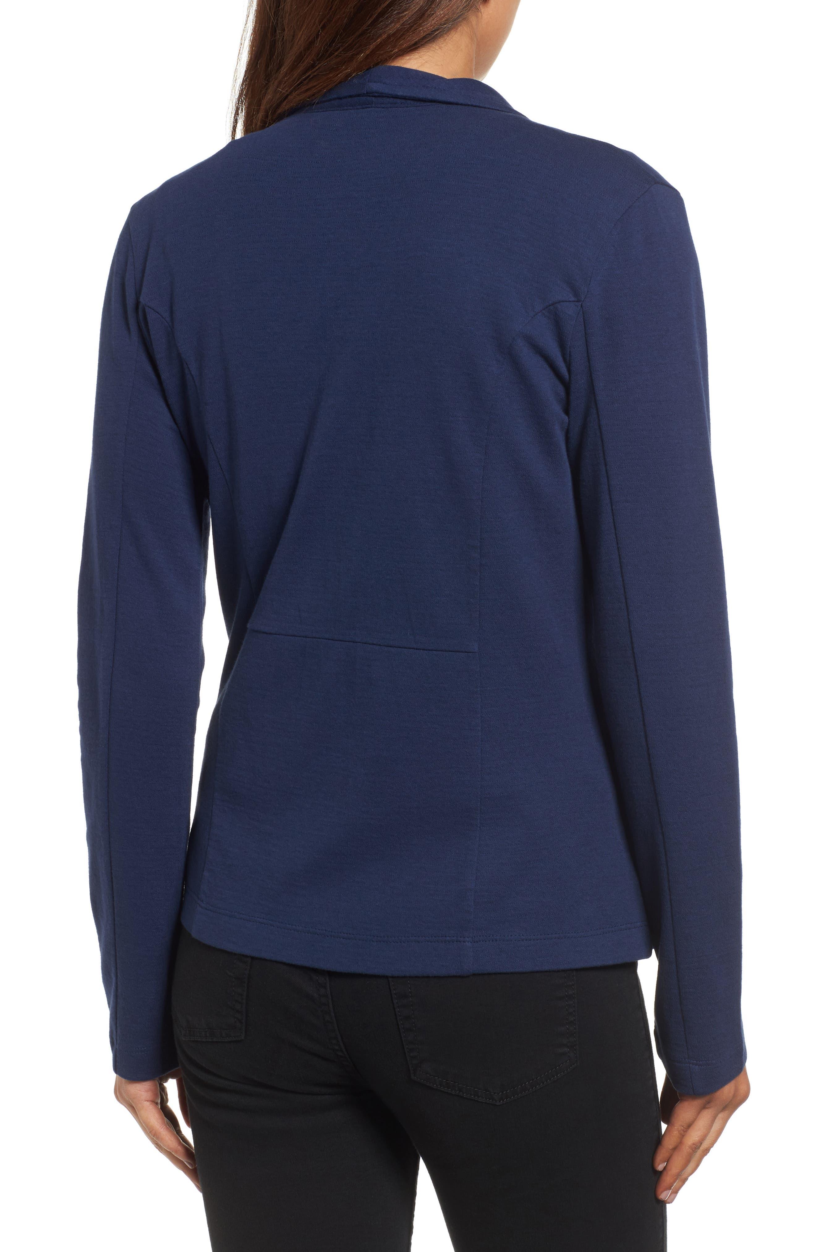 Alternate Image 2  - Caslon® Knit Blazer (Regular & Petite)